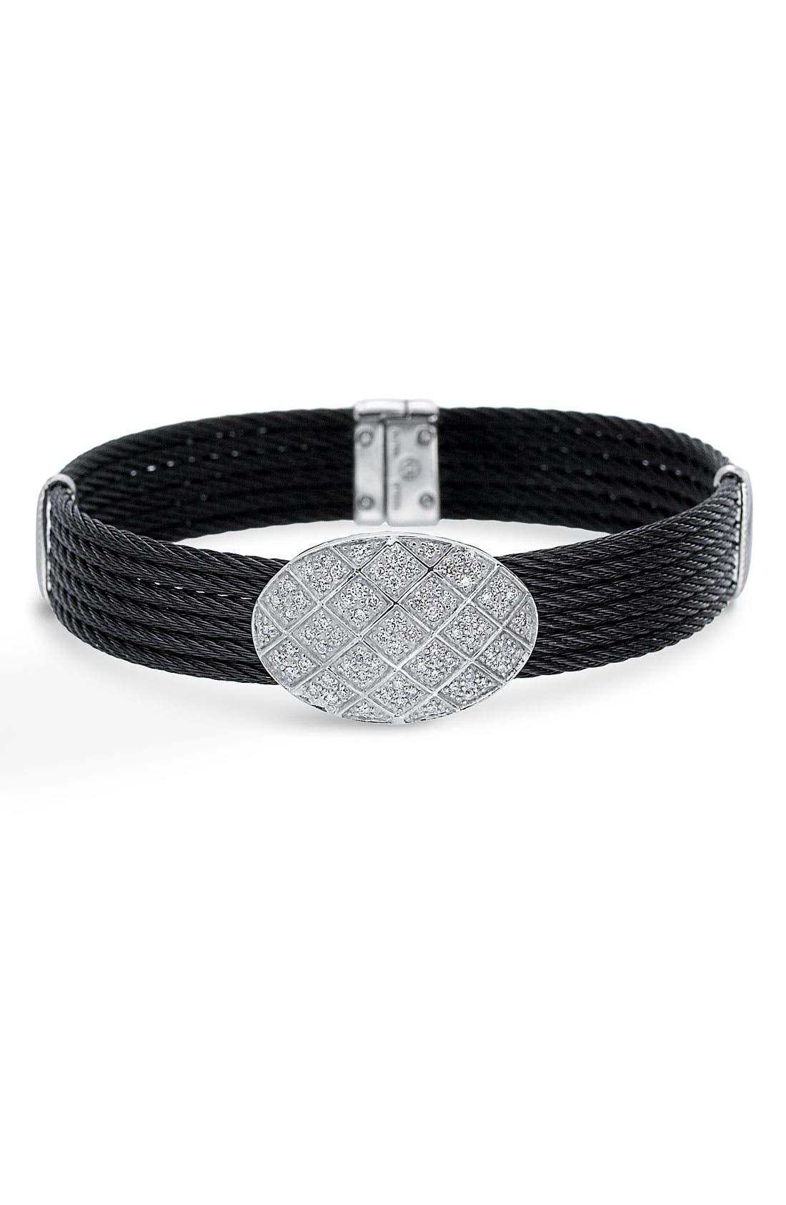 Main Image - ALOR® Diamond Pavé Station Bracelet