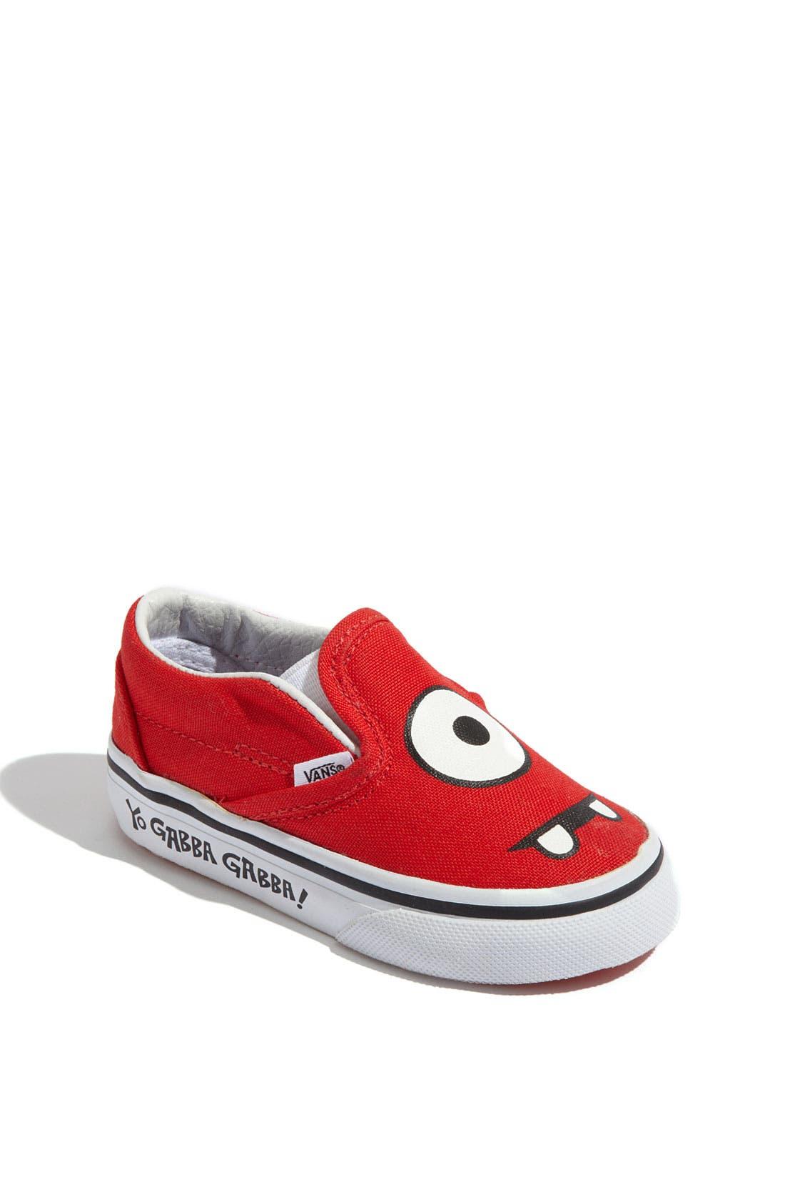 'Yo Gabba Gabba!<sup>™</sup>' Slip-On,                         Main,                         color, Muno Face Red