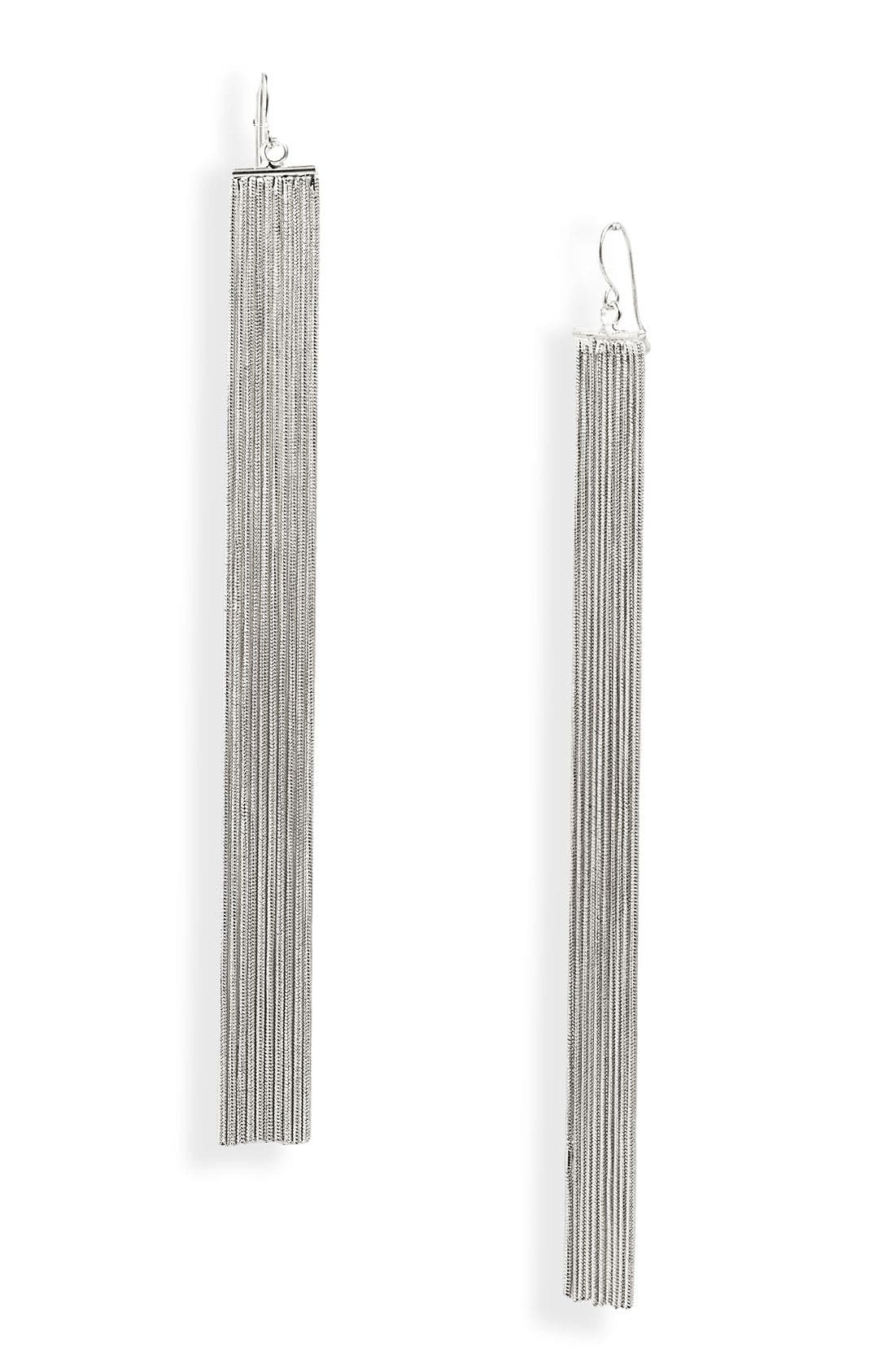 Alternate Image 1 Selected - Natasha Couture Long Fringe Earrings
