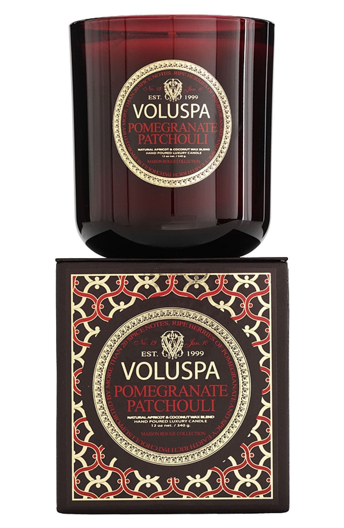Alternate Image 1 Selected - Voluspa 'Maison Rouge - Pomegranate Patchouli' Scented Candle