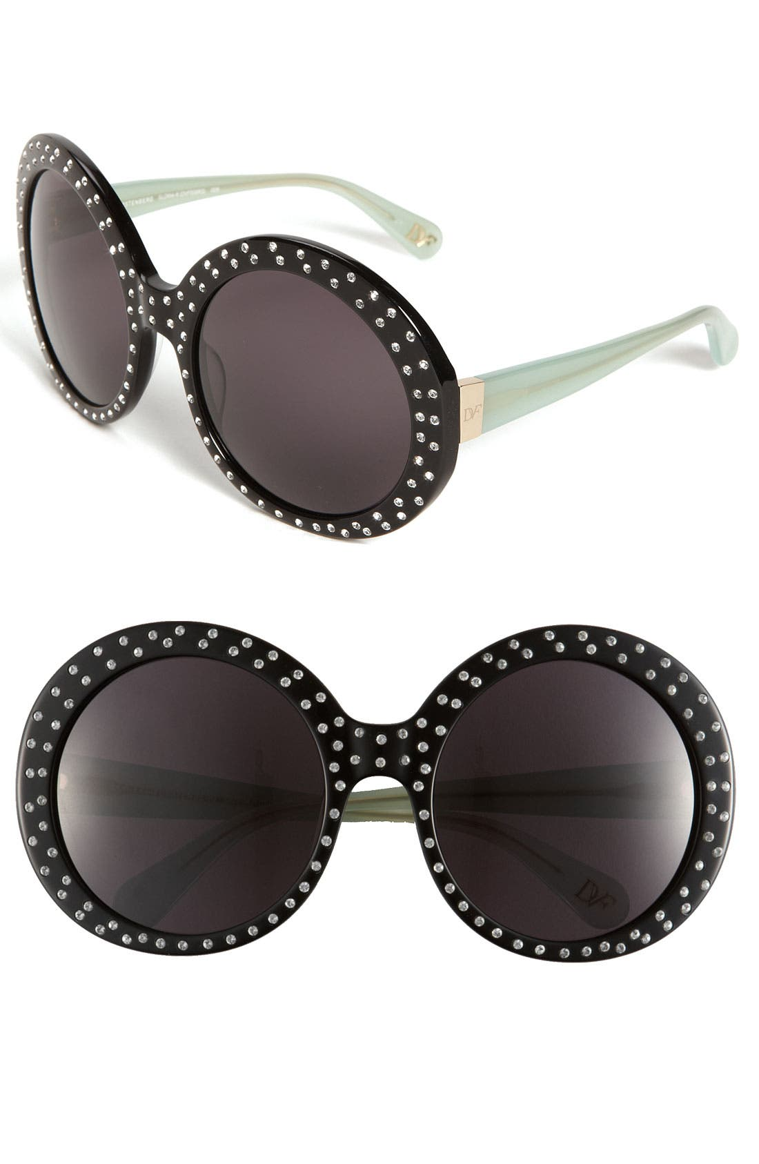 Alternate Image 1 Selected - Diane von Furstenberg 'Gloria - Oversized' Round Sunglasses
