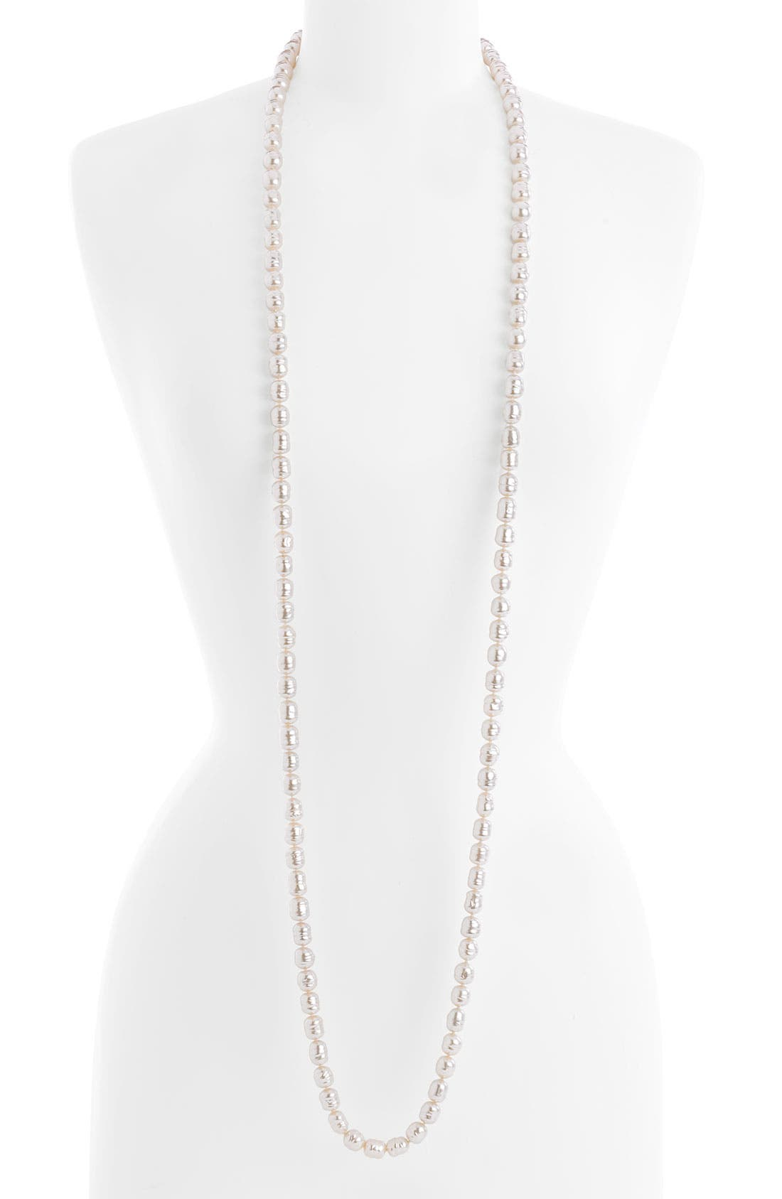 Alternate Image 2  - Majorica 10mm Baroque Pearl Endless Rope Necklace