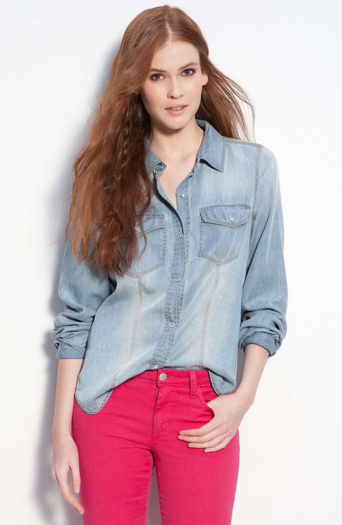 Alternate Image 1 Selected - Trouvé Faded Denim Shirt