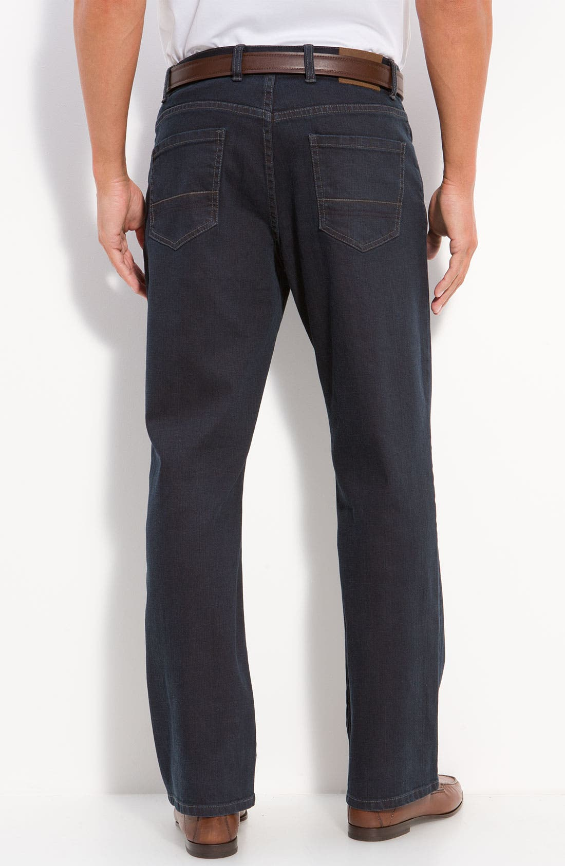 Alternate Image 2  - Cutter & Buck 'Madison Park' Jeans (Carbon) (Big & Tall)