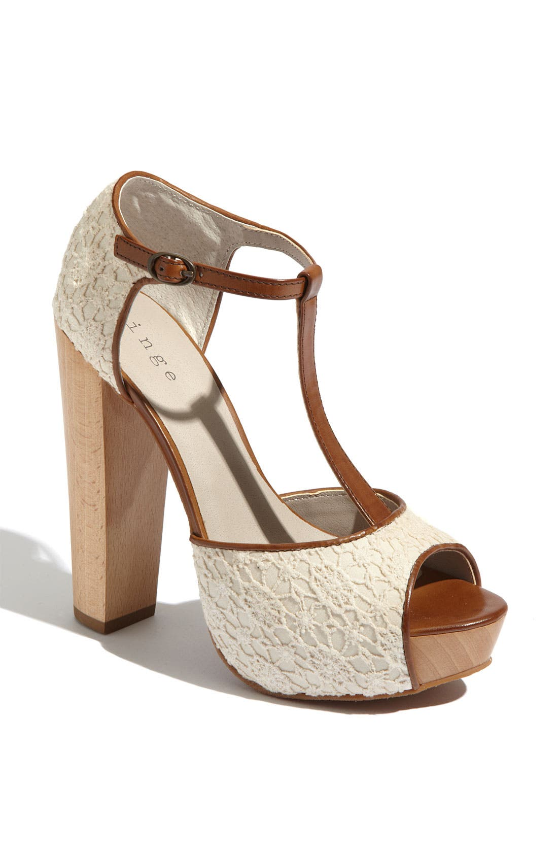 Alternate Image 1 Selected - Hinge® 'Asher' T-Strap Sandal