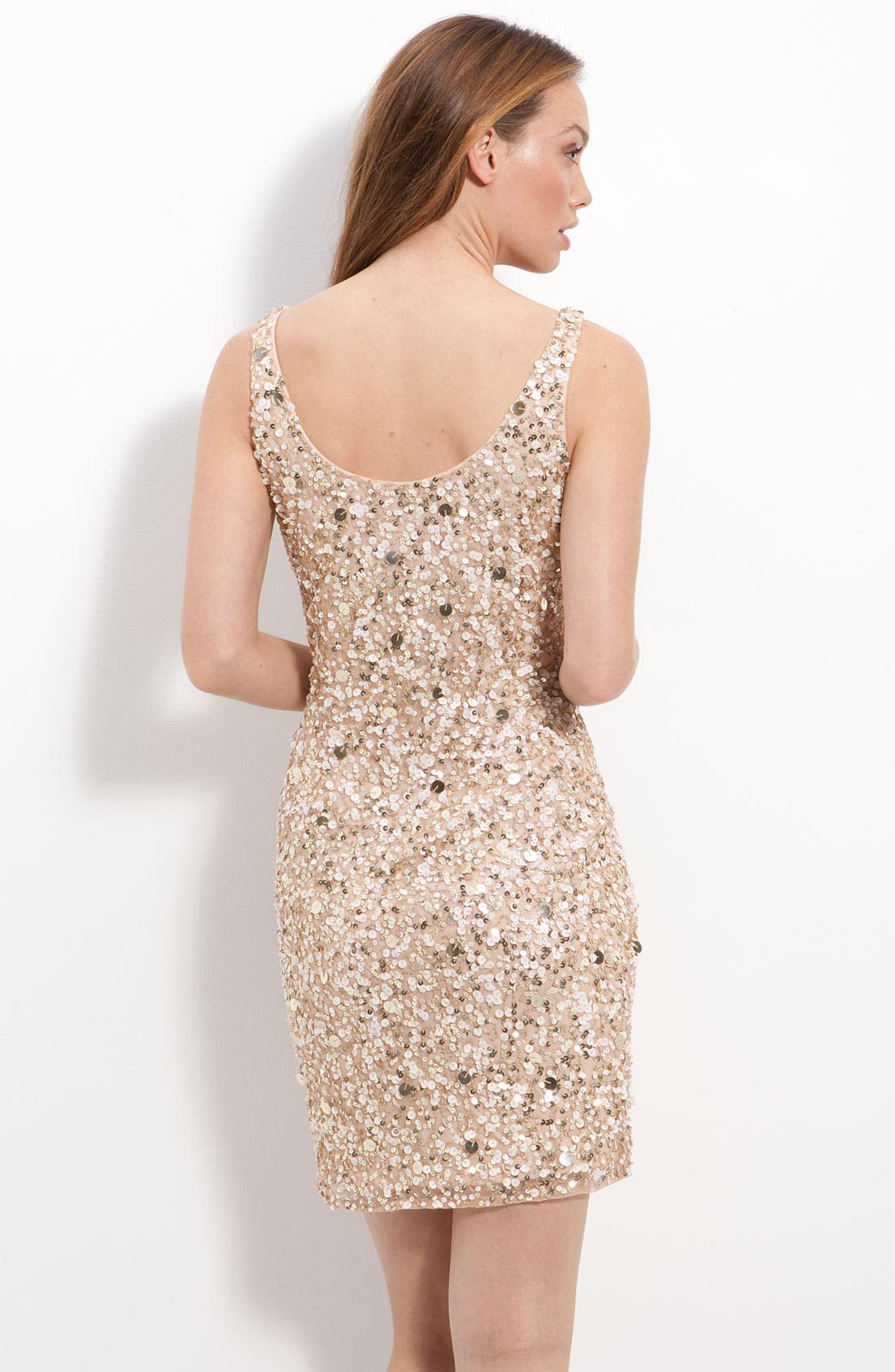 Alternate Image 2  - Pisarro Nights Short Sequin Sheath Dress