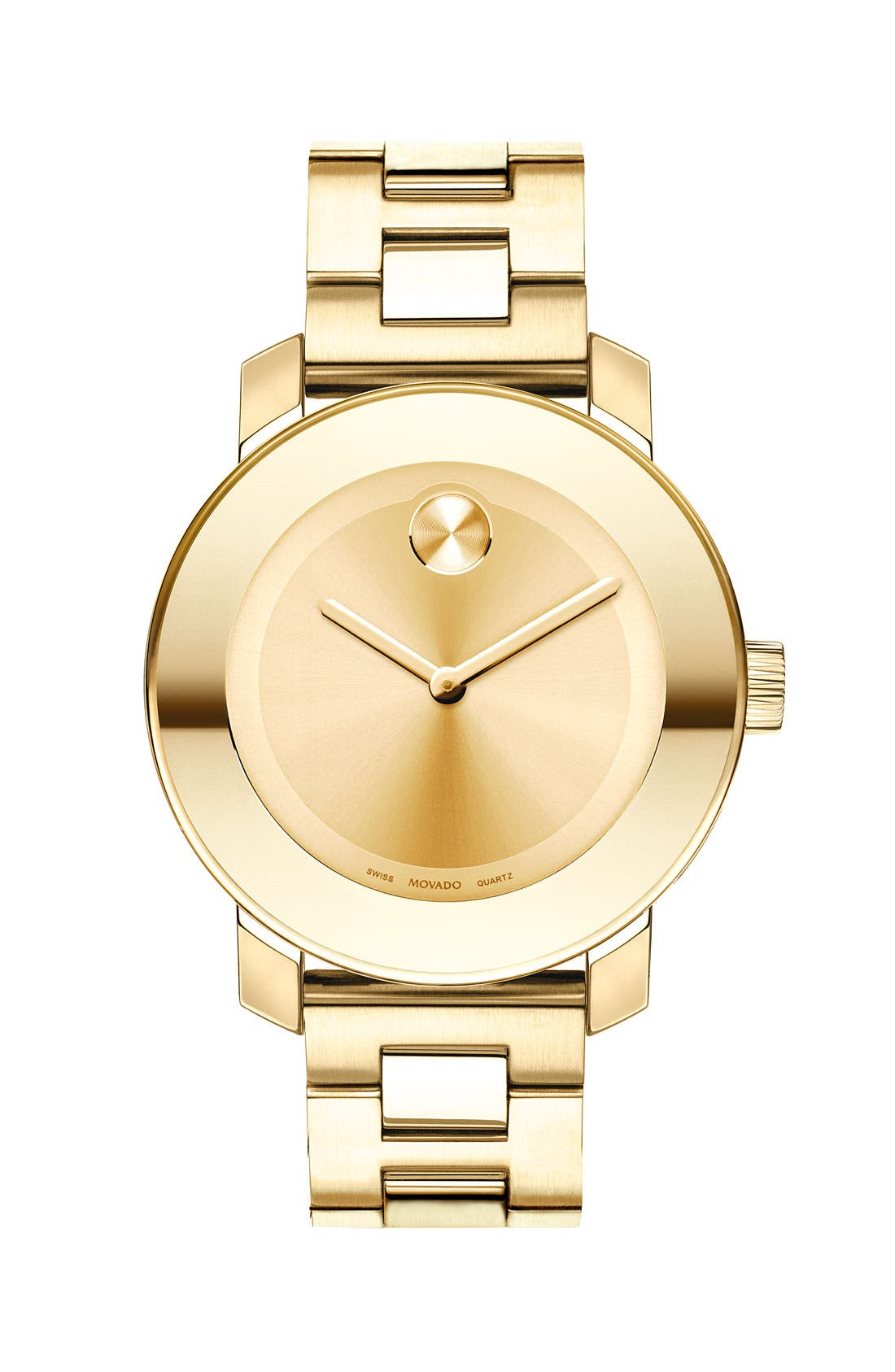 'Bold' Round Bracelet Watch, 36mm,                         Main,                         color, Gold