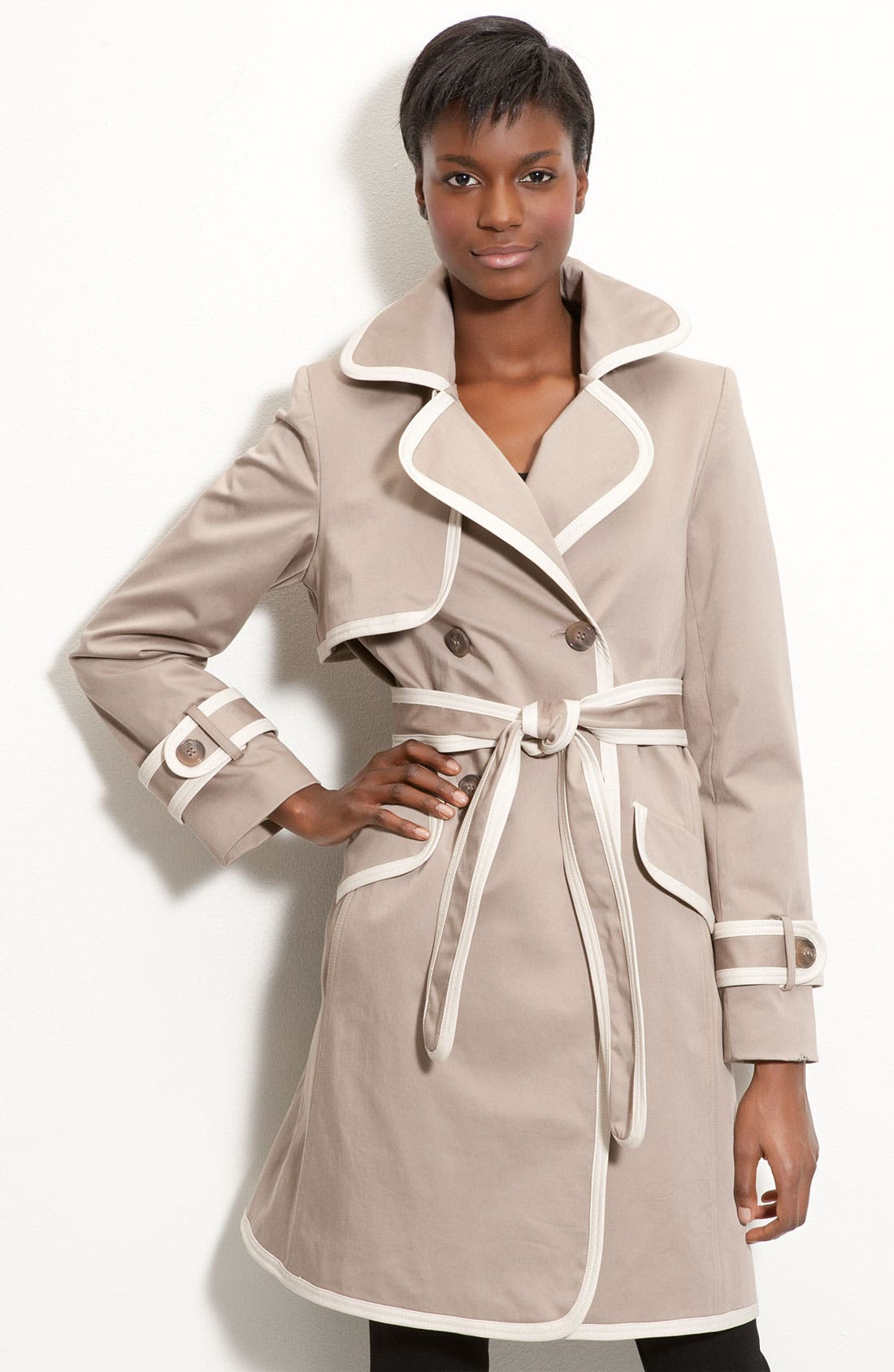 Alternate Image 1 Selected - Trina Turk Contrast Trim Trench