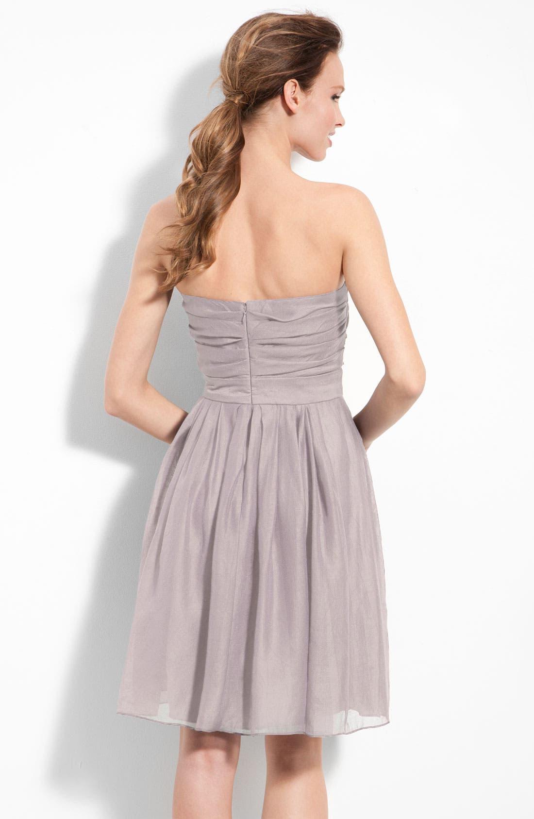 Alternate Image 2  - Suzi Chin for Maggy Boutique Strapless Draped Organza Dress
