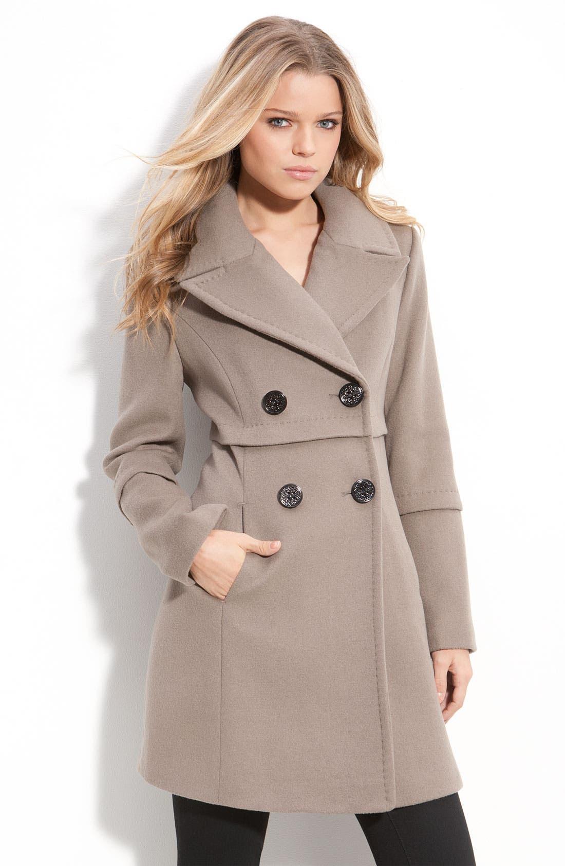 Alternate Image 1 Selected - Elie Tahari Double Breasted Coat