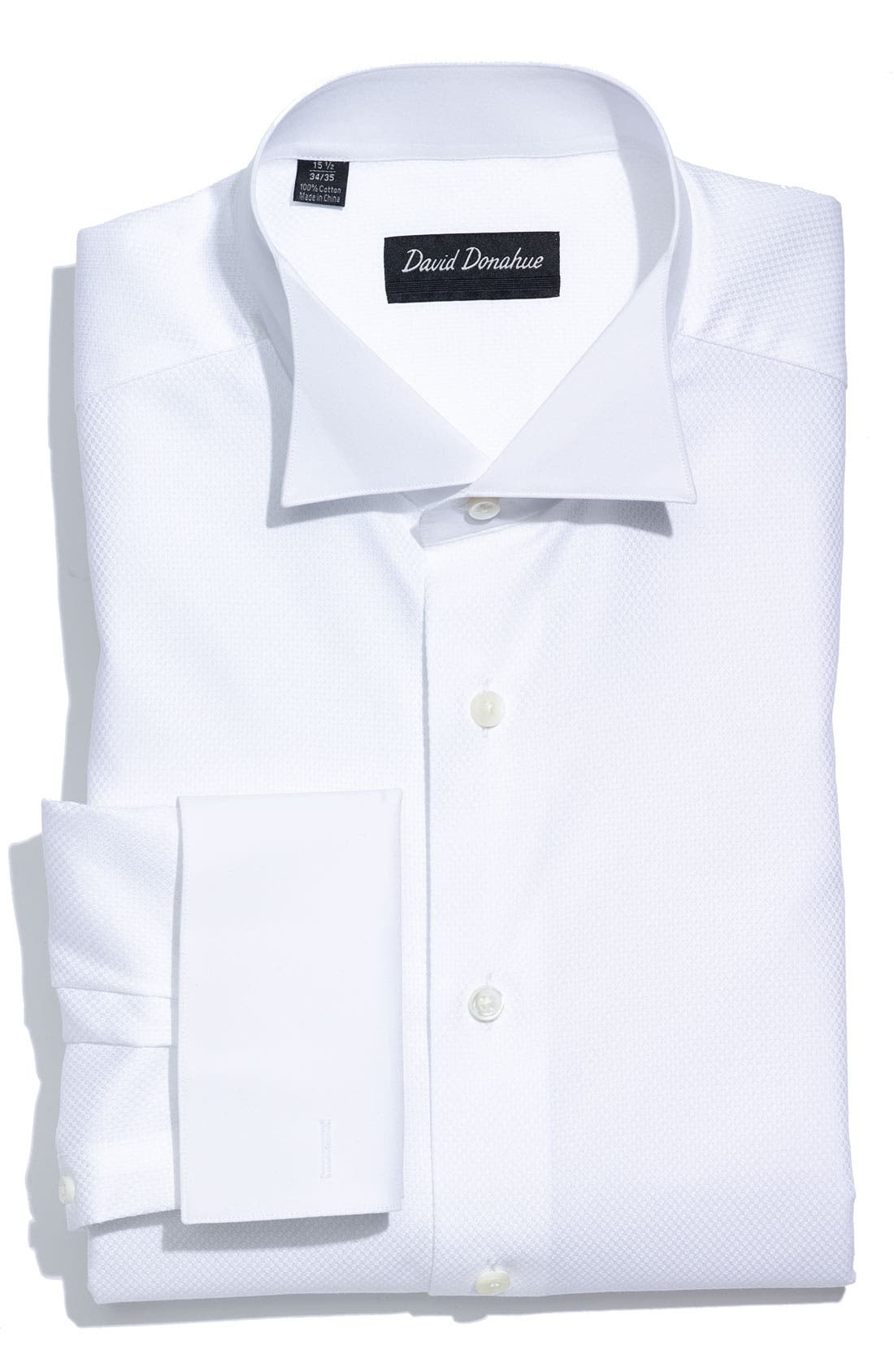 Main Image - David Donahue Regular Fit Tuxedo Shirt