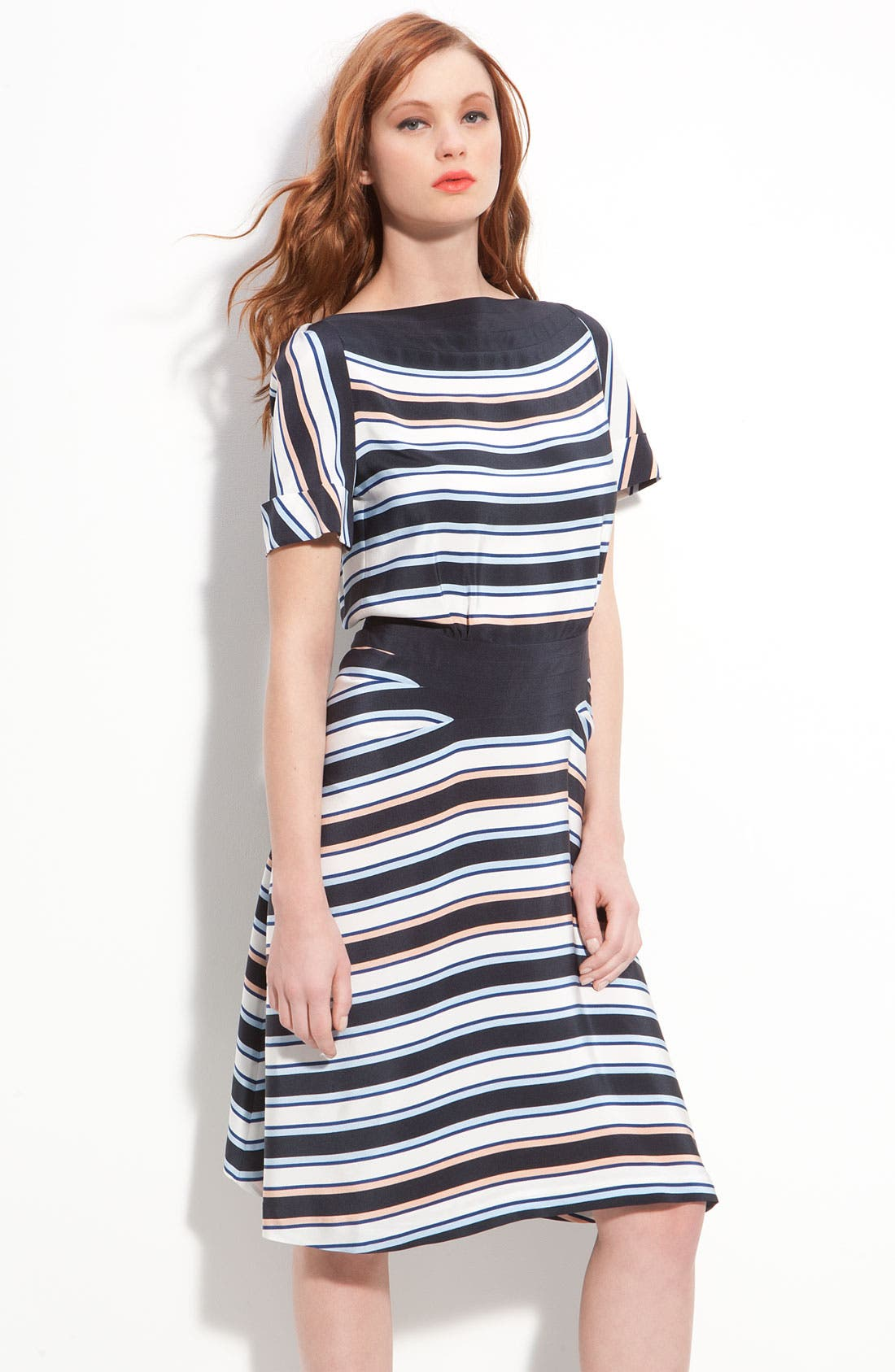 Main Image - MARC BY MARC JACOBS 'Jacobson' Stripe Silk Dress