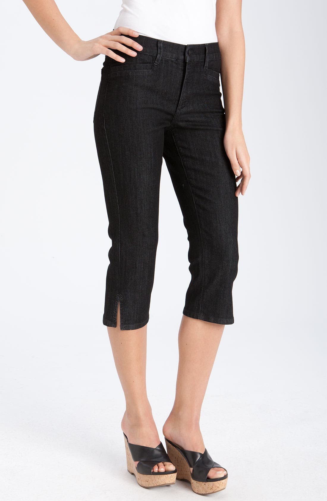Main Image - NYDJ 'Joan' Embellished Crop Stretch Jeans