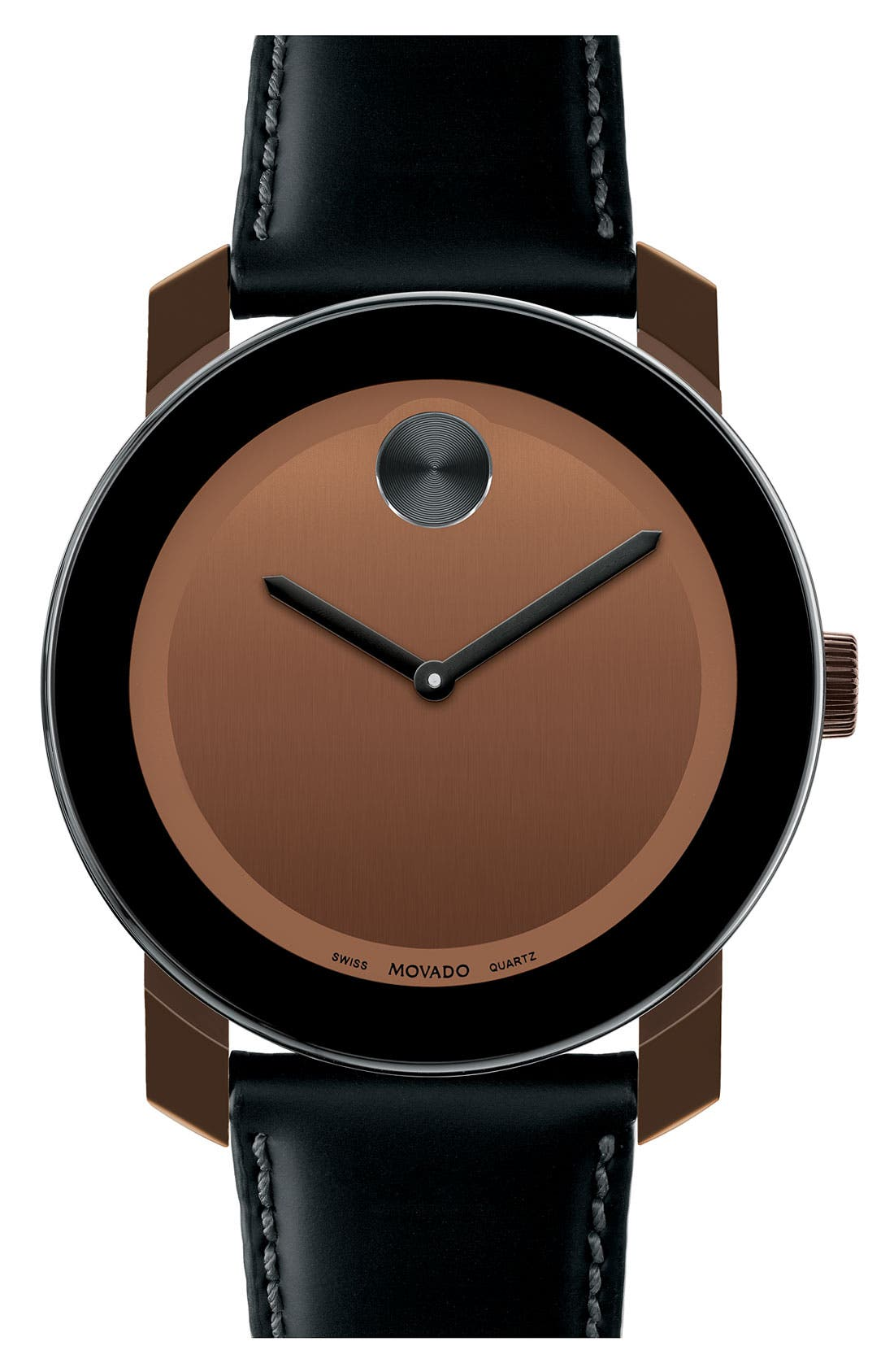Alternate Image 1 Selected - Movado 'Bold' Leather Strap Watch