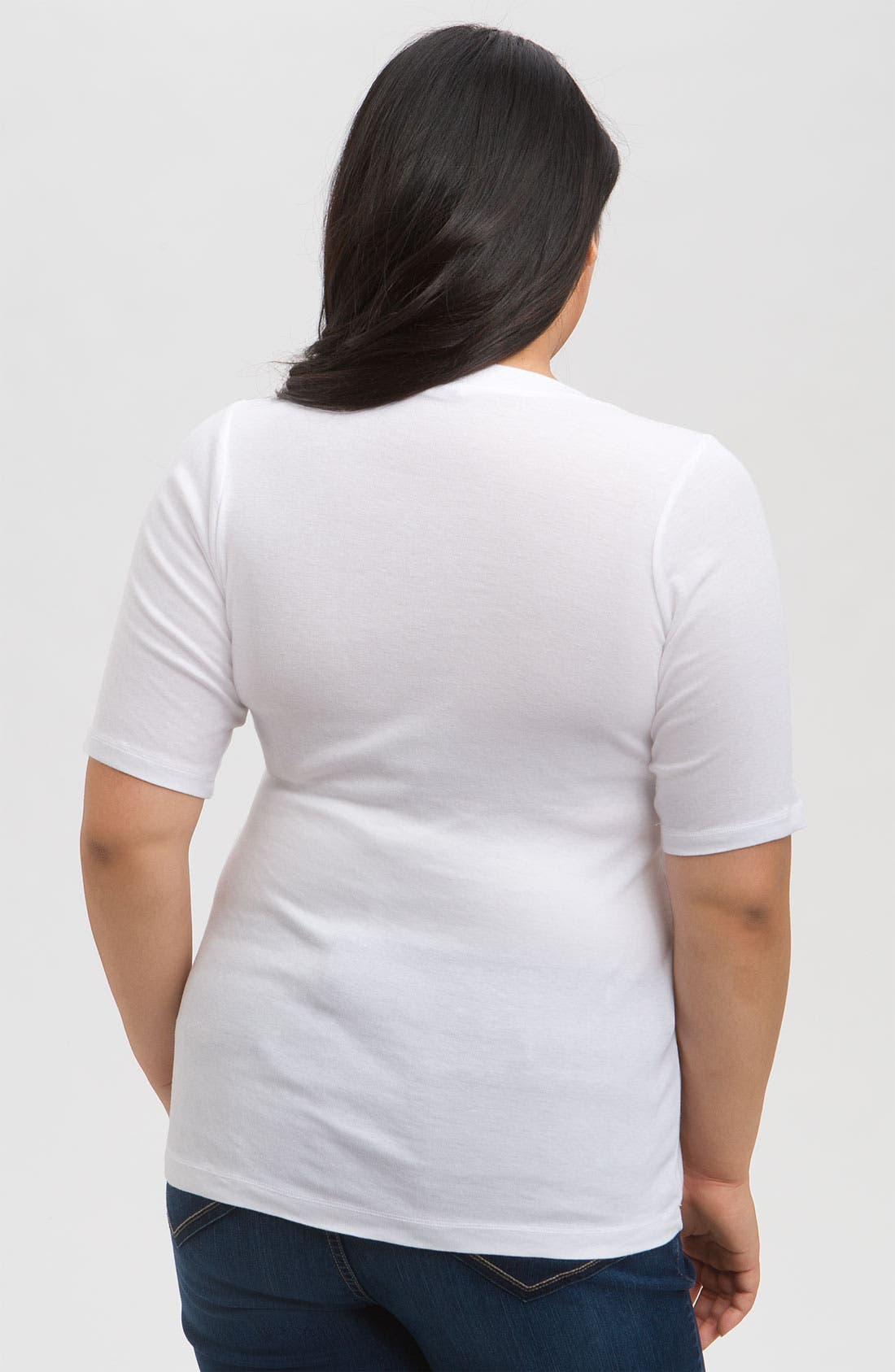 Alternate Image 2  - Splendid Elbow Sleeve Tee (Plus Size)