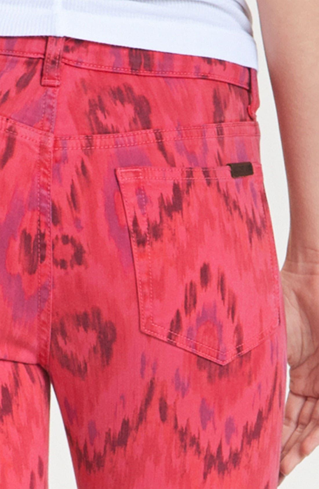 Alternate Image 3  - Joe's 'The High Water' Print Crop Skinny Jeans (Geranium Tribal)