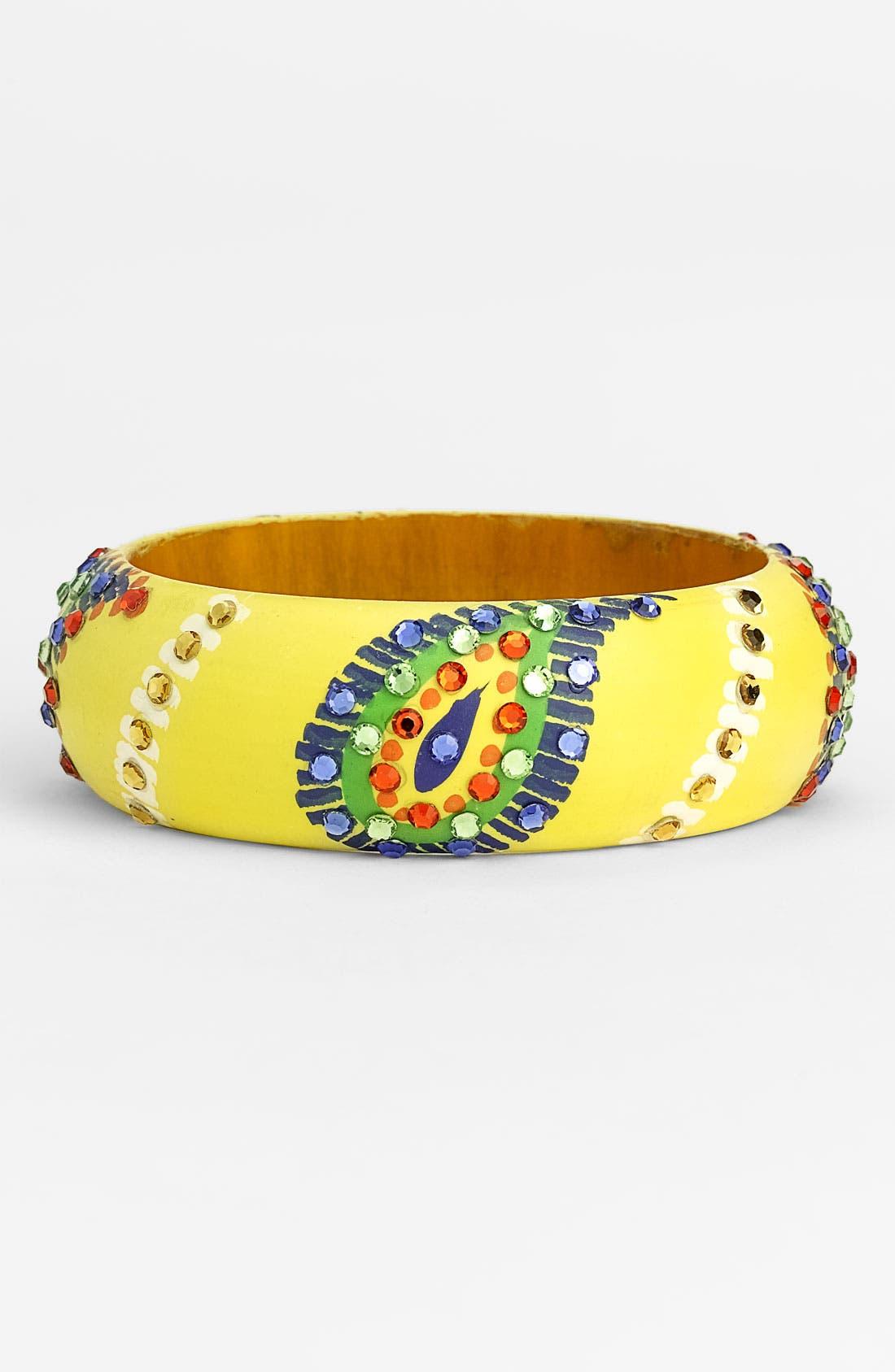 Main Image - Cara Accessories 'Medium' Painted Paisley Bangle