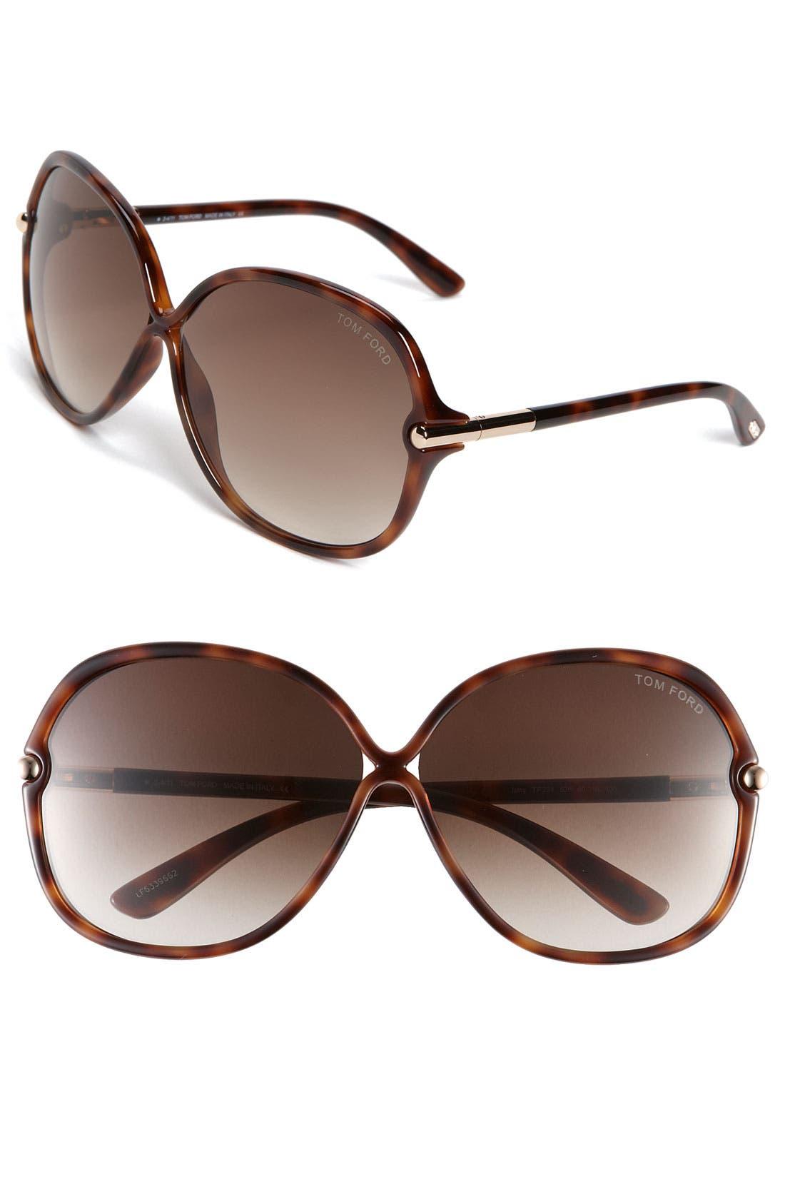 Main Image - Tom Ford Oversized Sunglasses