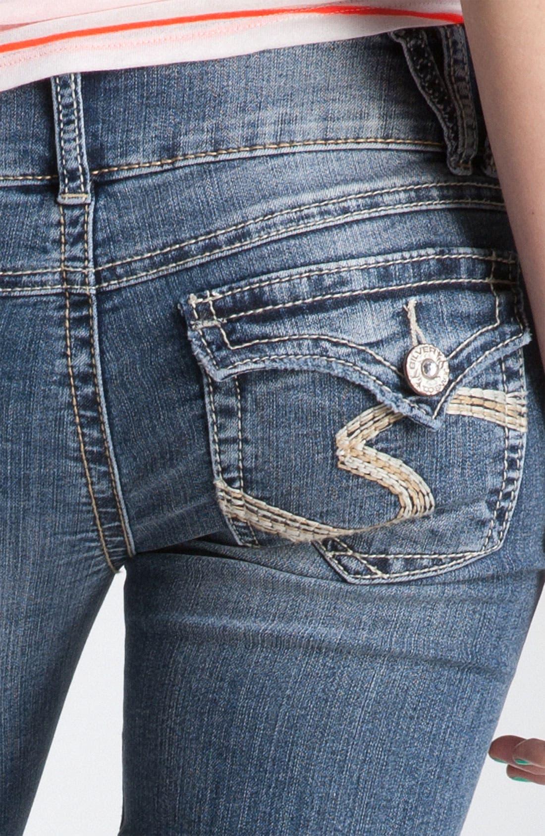 Alternate Image 3  - Silver Jeans Co. 'Dawson' Flare Leg Jeans (Juniors)