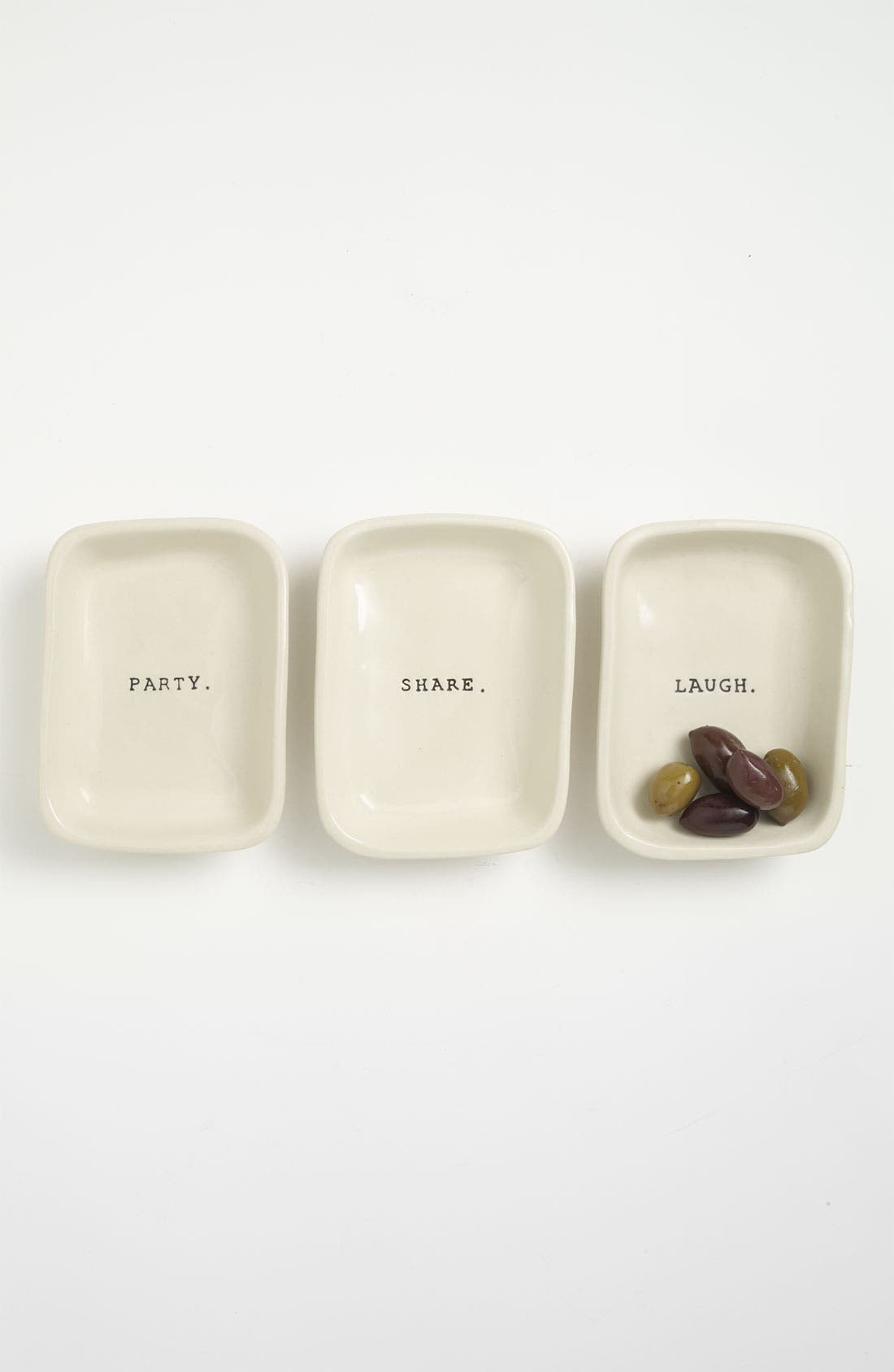 Main Image - Rae Dunn by Magenta 'Word' Appetizer Dish (Set of 3)