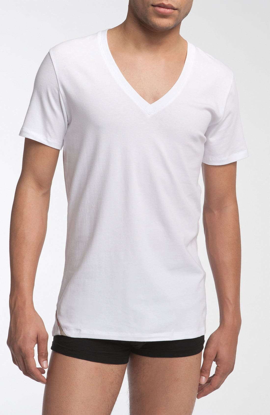 Alternate Image 1 Selected - DIESEL® Deep V-Neck T-Shirt