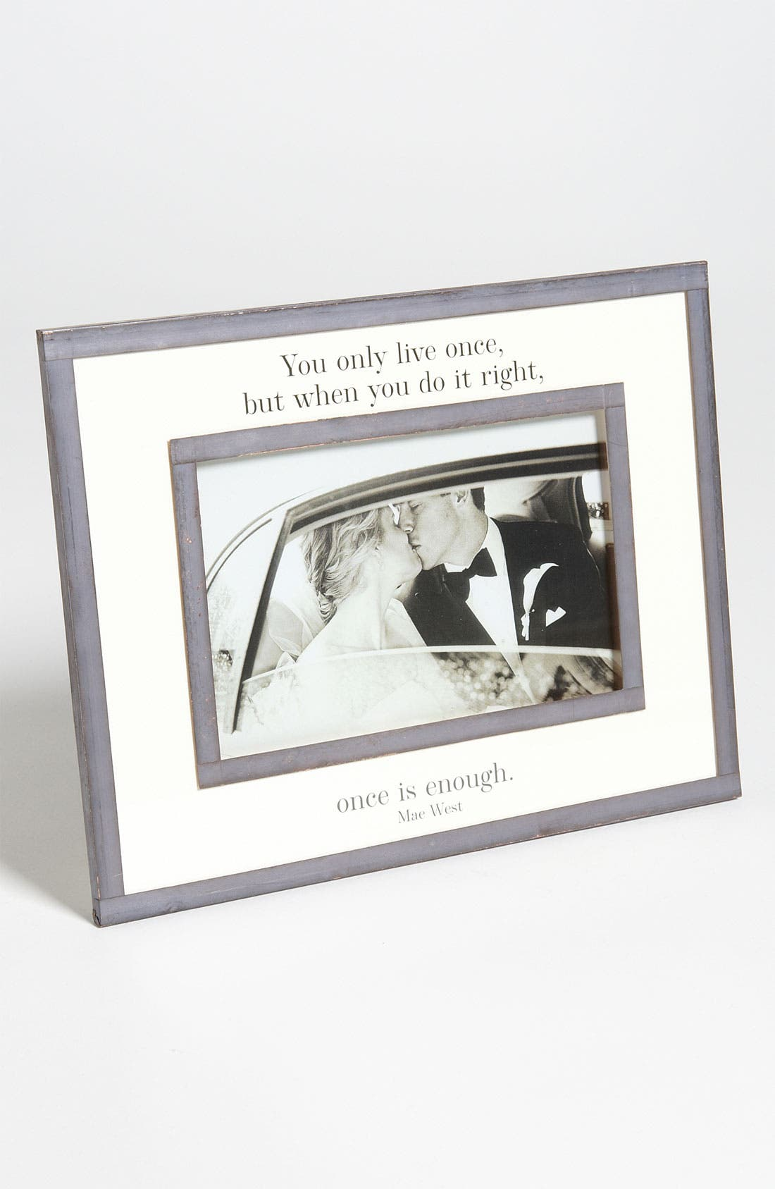 Alternate Image 1 Selected - Ben's Garden 'You Only Live Once' Picture Frame (4x6)