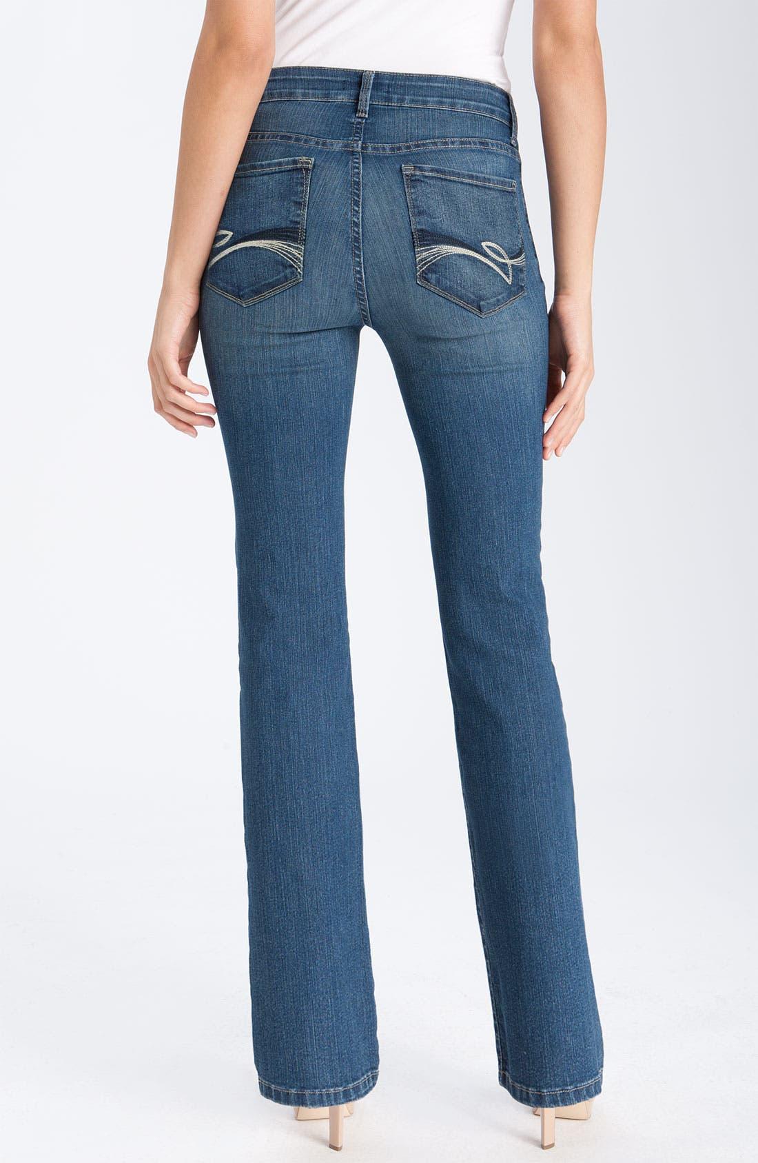Alternate Image 2  - NYDJ 'Barbara' Bootcut Jeans (Petite)