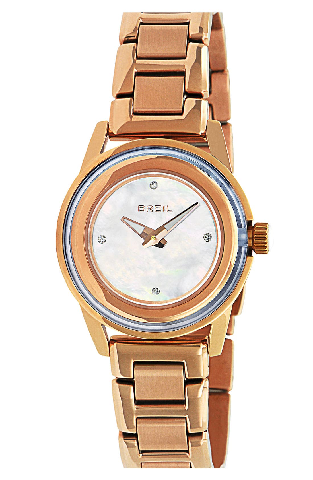 Main Image - Breil 'Orchestra' Crystal Index Bracelet Watch, 28mm