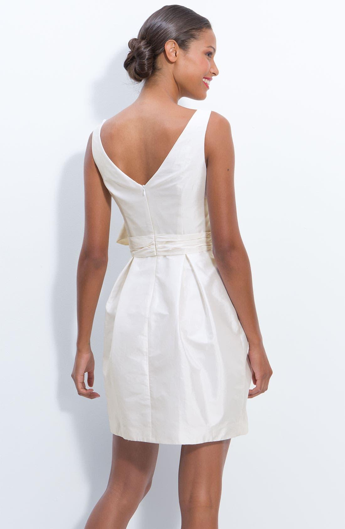 Alternate Image 2  - Eliza J Jeweled Sleeveless Satin Tulip Dress