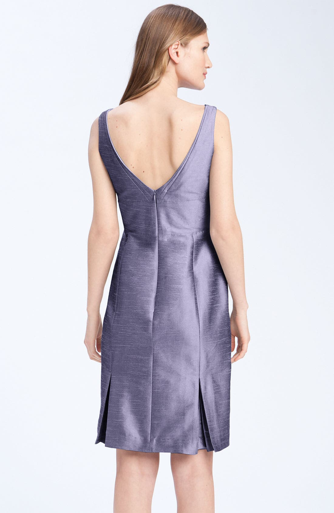 Alternate Image 2  - Anna Elyse Bridesmaids Shantung V-Neck Dress