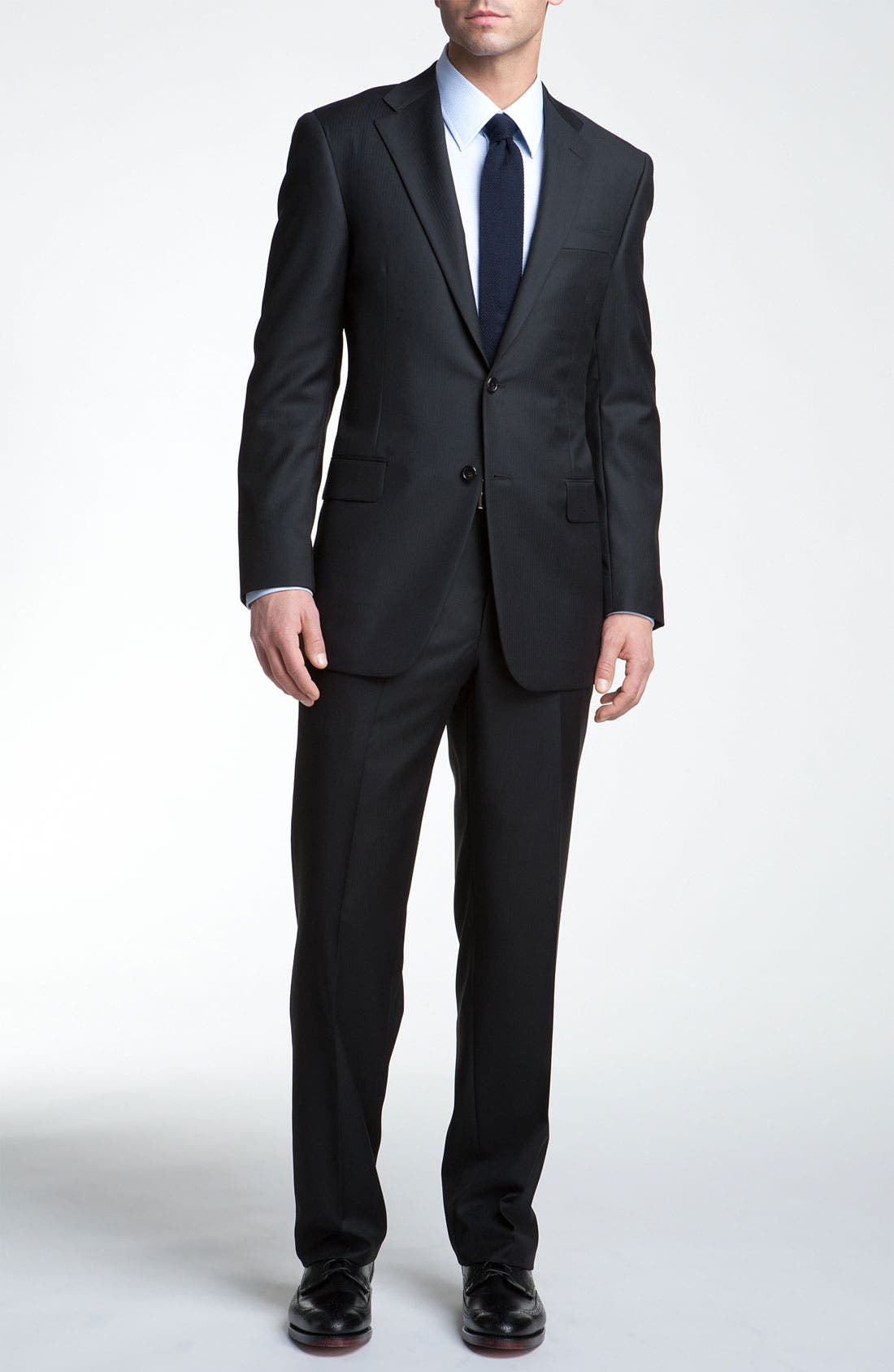 Main Image - Hickey Freeman Herringbone Suit