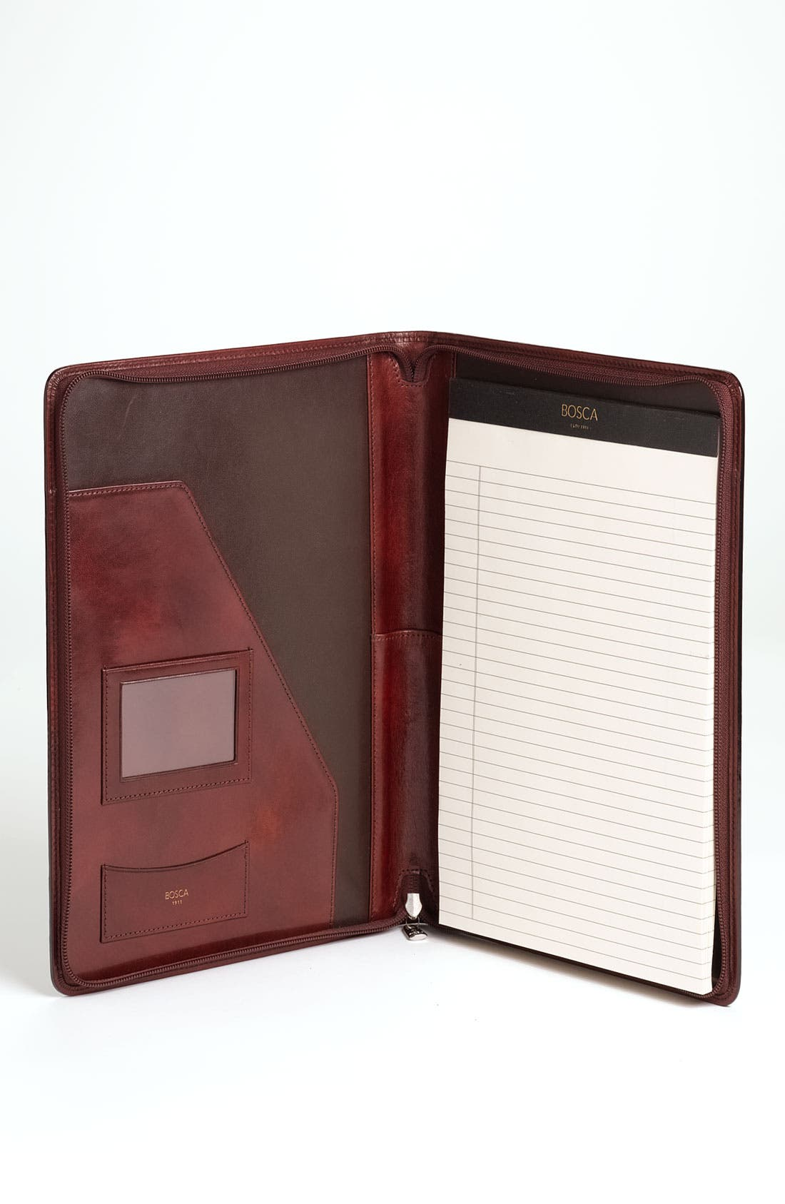 Alternate Image 3  - Bosca Leather Zip Closure Letter Pad Cover