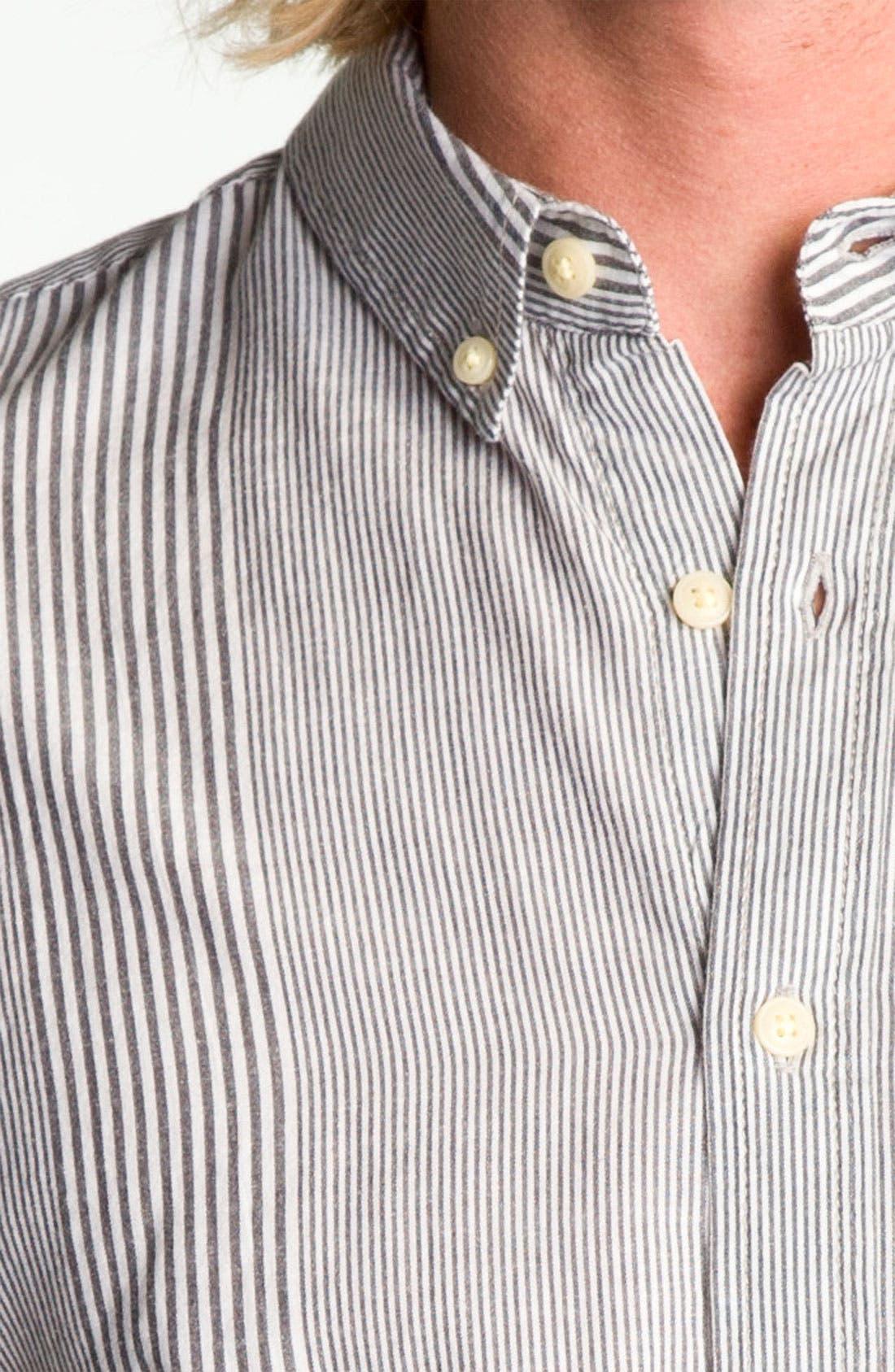 Alternate Image 3  - Obey 'Wayne' Stripe Woven Shirt