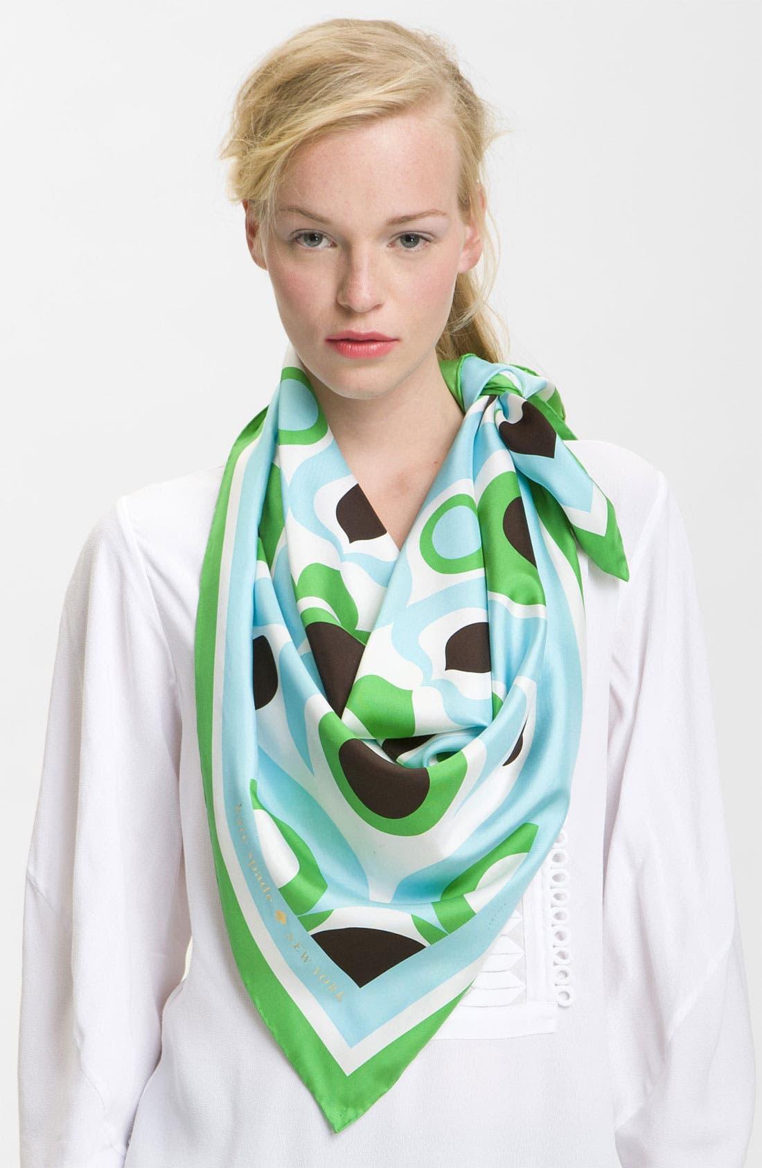 Main Image - kate spade new york 'solar' silk scarf