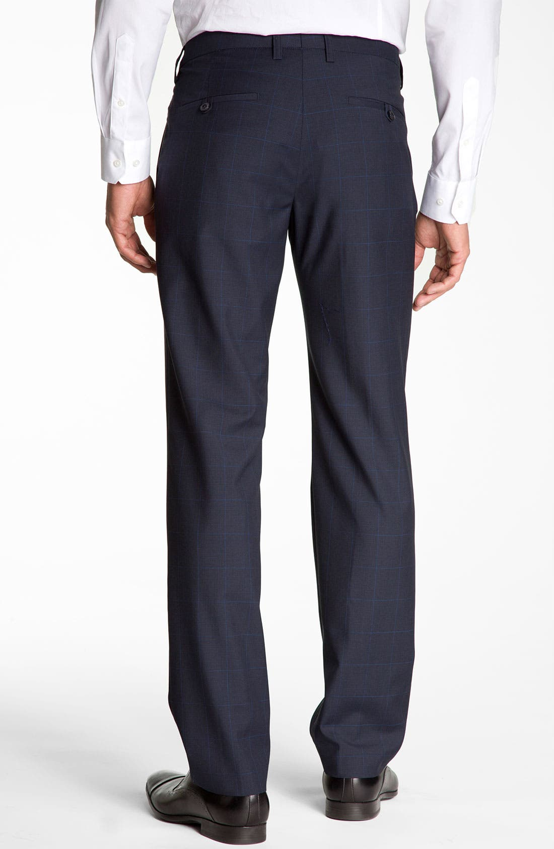 Alternate Image 2  - BOSS Black 'Crigan' Patterned Flat Front Wool Trousers