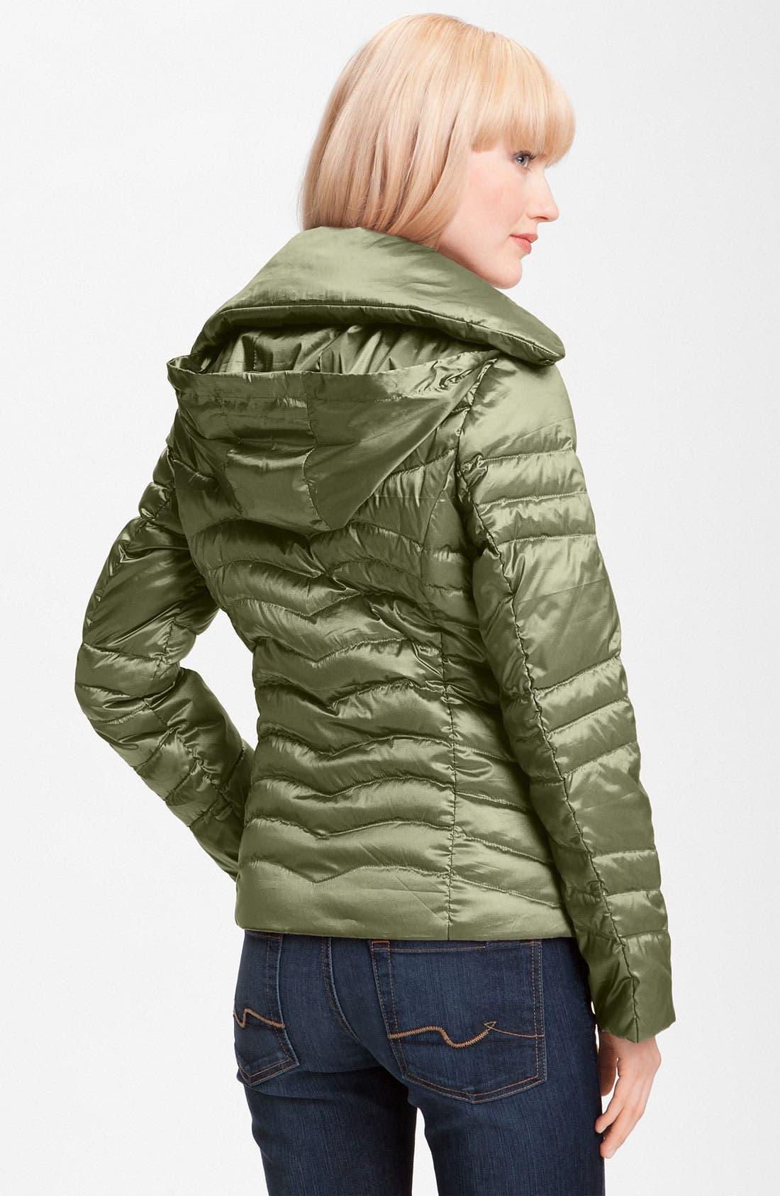 Alternate Image 2  - Bernardo Iridescent Packable Down Jacket