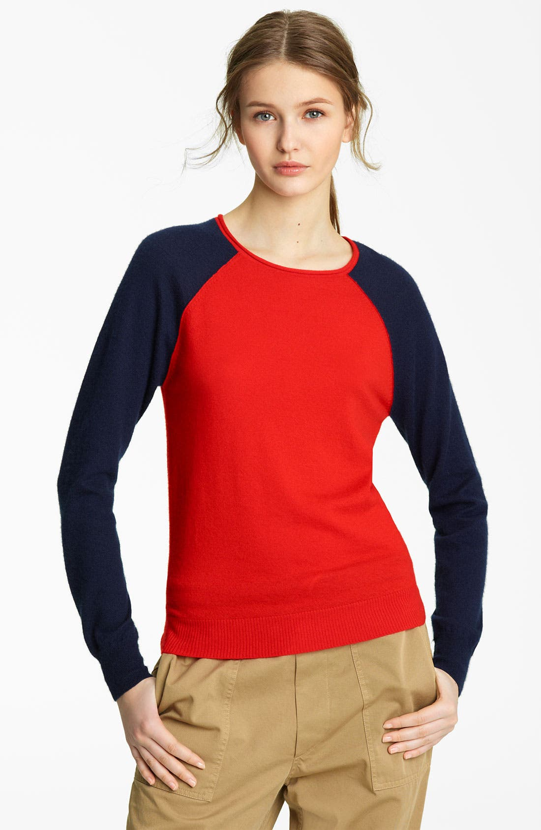 Alternate Image 1 Selected - Band of Outsiders Raglan Cashmere Sweater