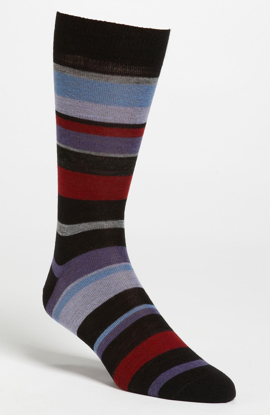 Alternate Image 1 Selected - Lorenzo Uomo Stripe Dress Socks