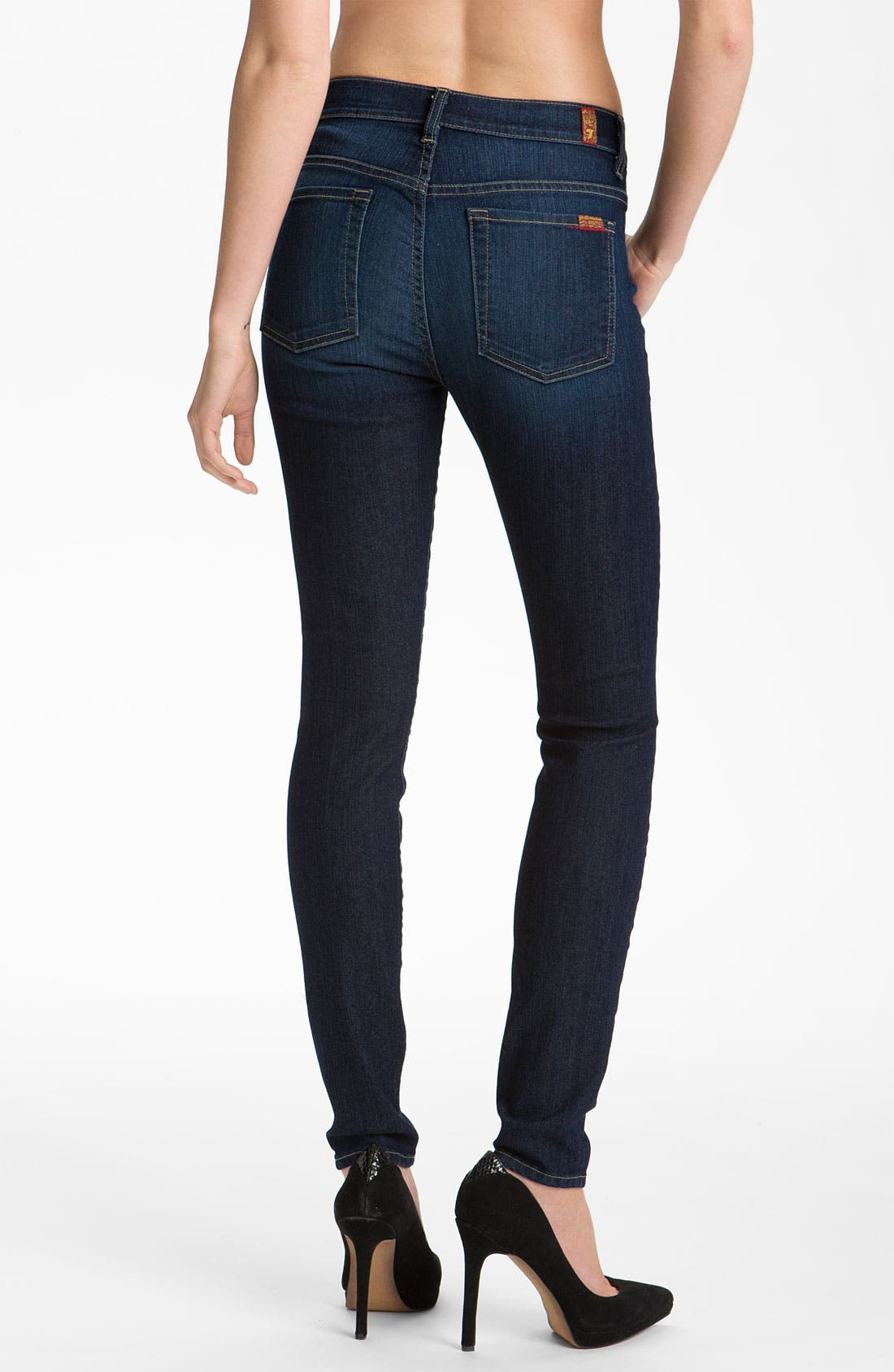 Alternate Image 2  - 7 For All Mankind® 'The Skinny' Stretch Jeans (Rich Warm Blue) (Online Exclusive)