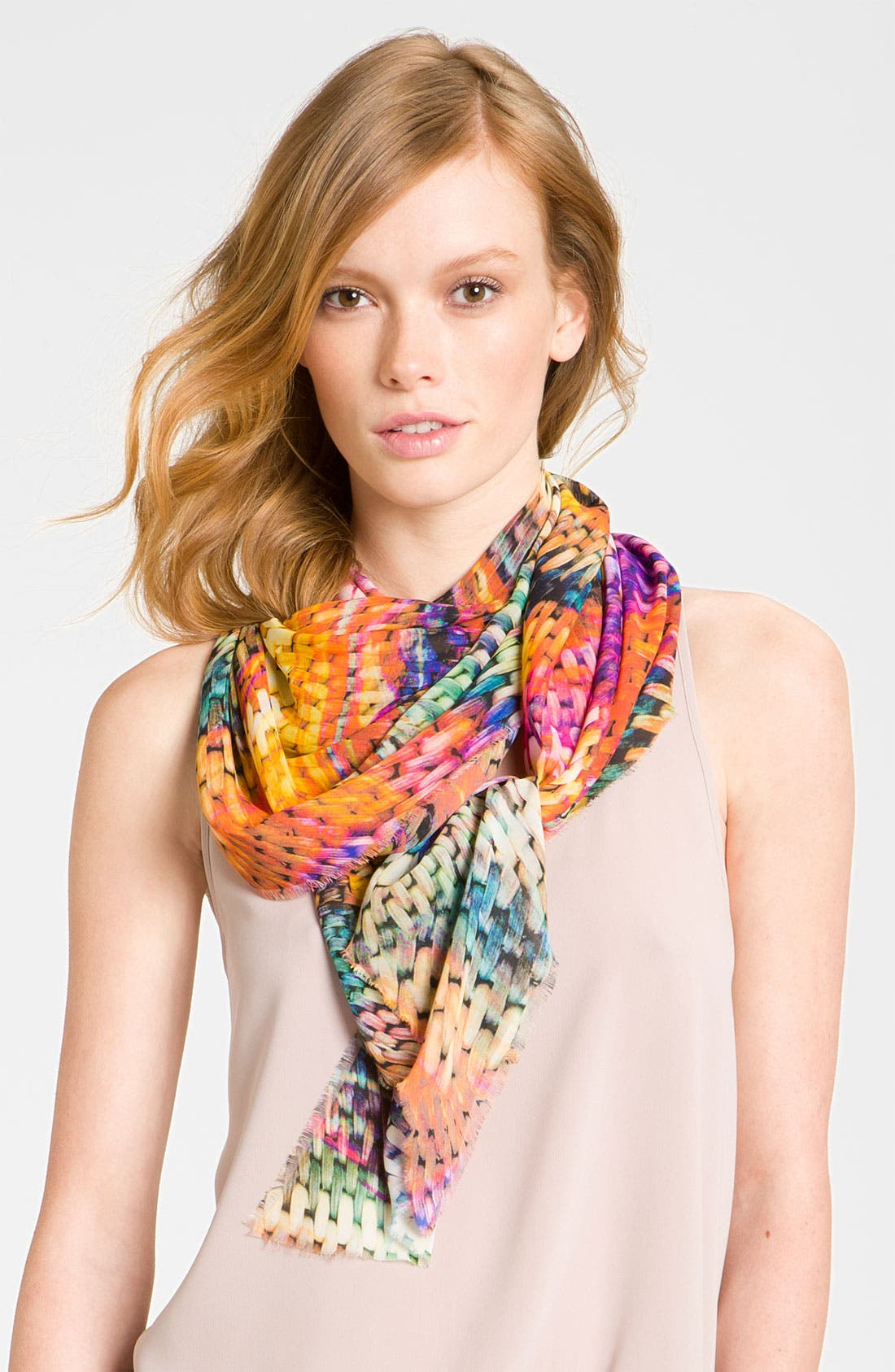 Alternate Image 1 Selected - Halogen® Woven Print Scarf