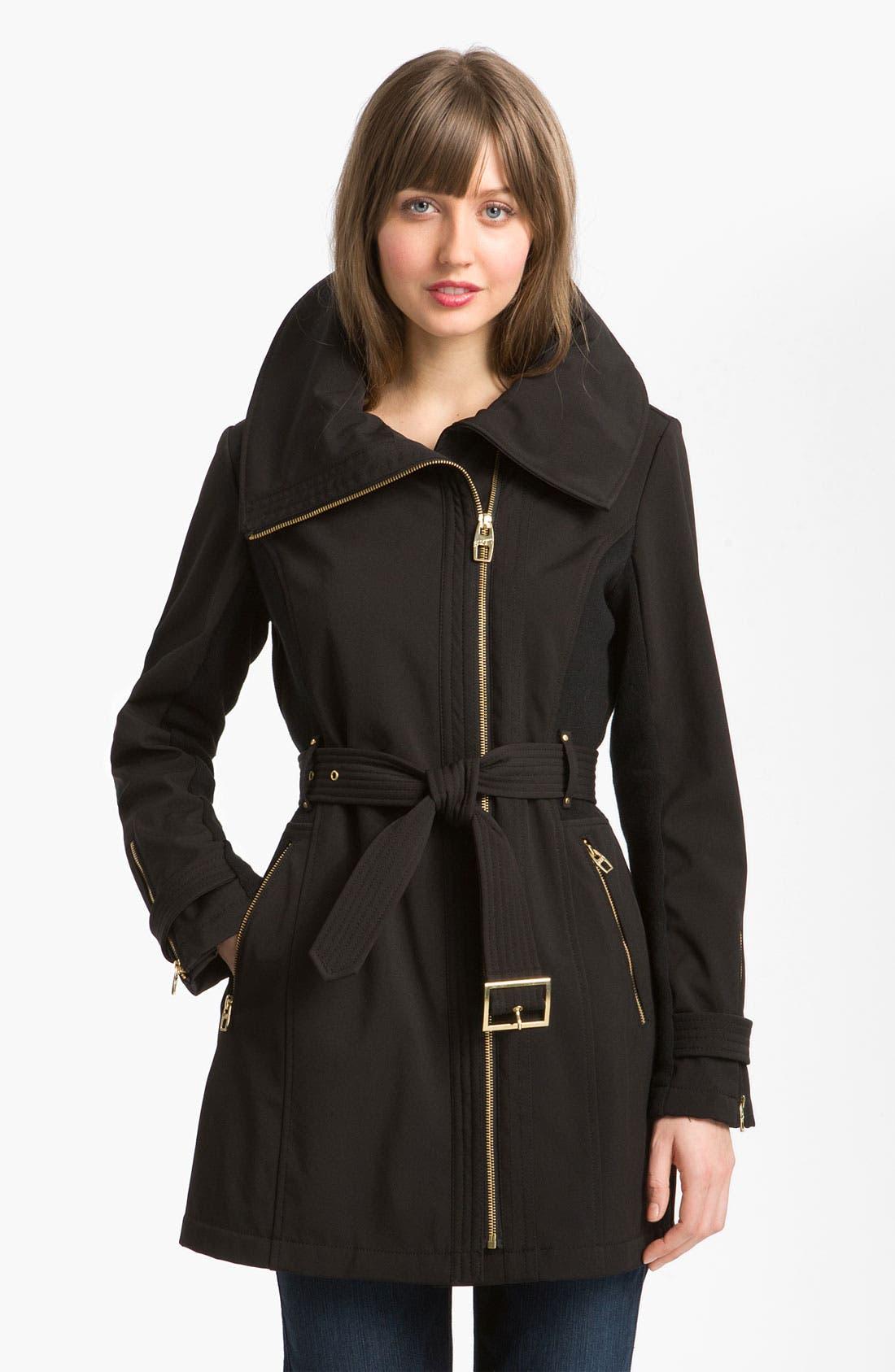 Main Image - Miss Sixty Asymmetrical Soft Shell Jacket