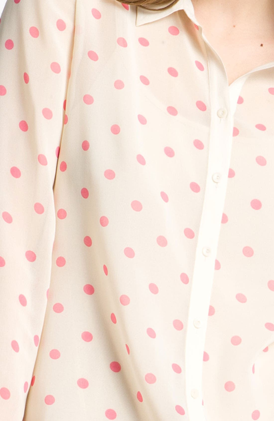 Alternate Image 3  - Hinge® Print Chiffon Shirt