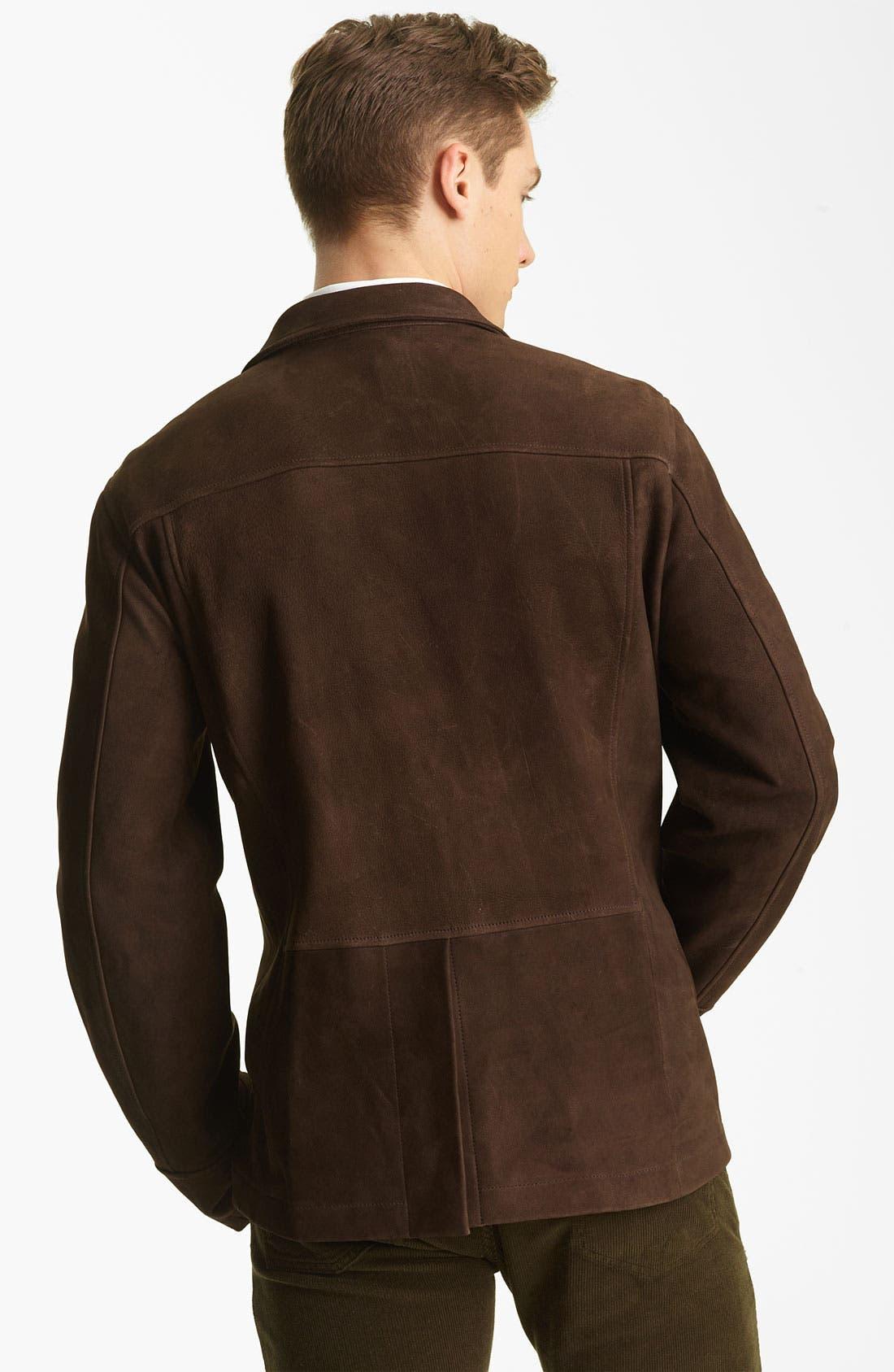 Alternate Image 2  - Billy Reid 'Washed Polk' Leather Blazer
