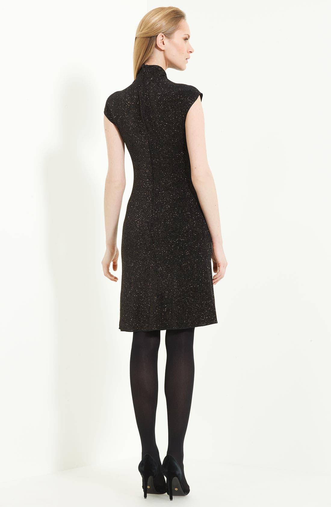 Alternate Image 2  - Armani Collezioni 'Glitter Gold' Jersey Dress