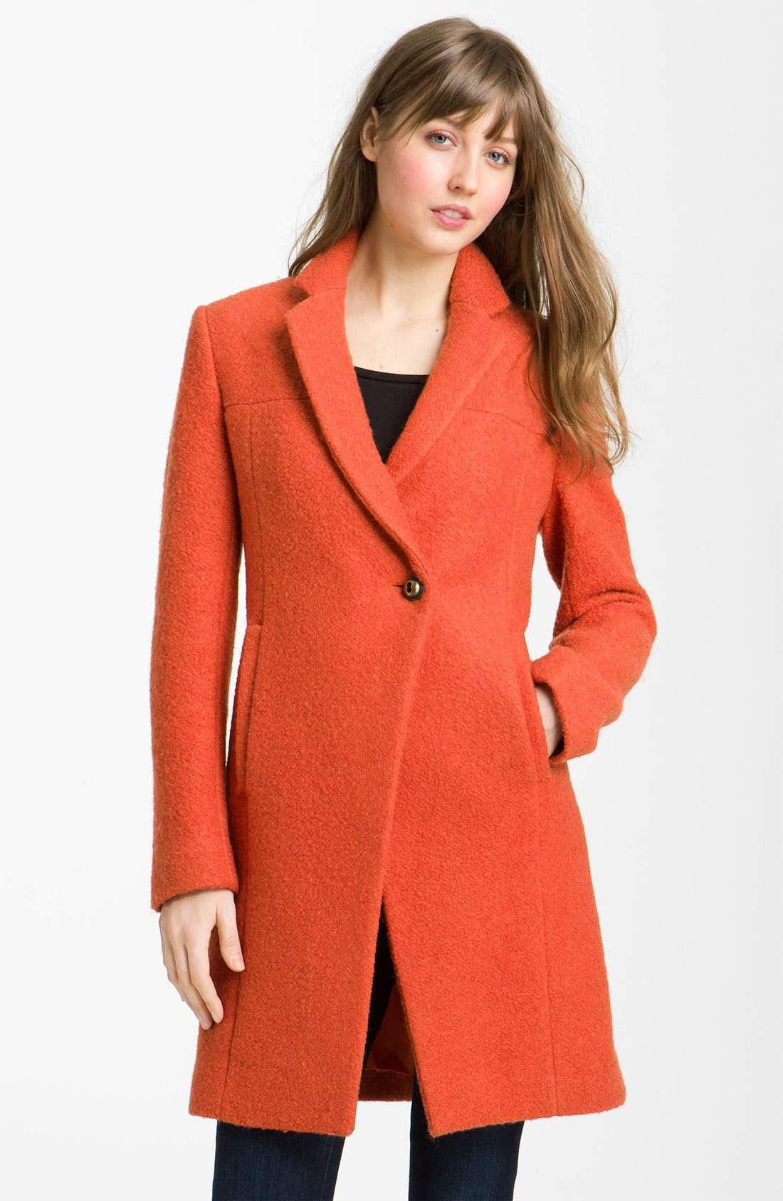 Alternate Image 1 Selected - Kenneth Cole New York Notch Collar Bouclé Coat