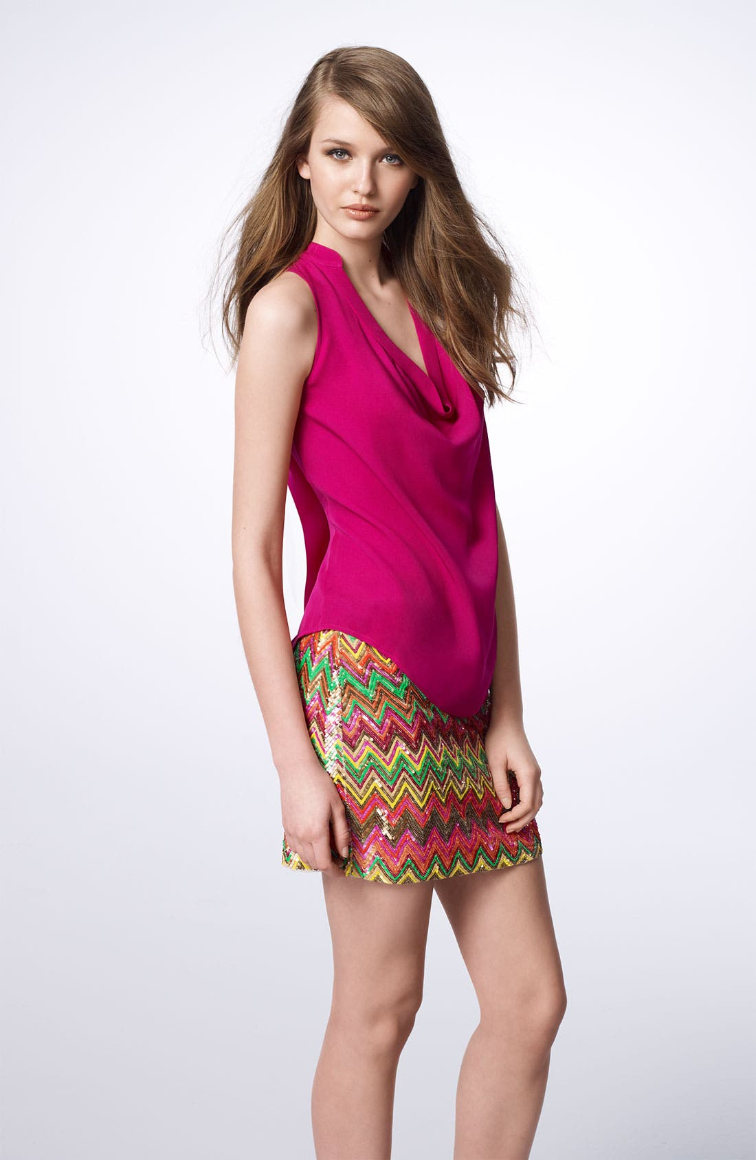 Alternate Image 4  - Haute Hippie Chevron Sequin Miniskirt