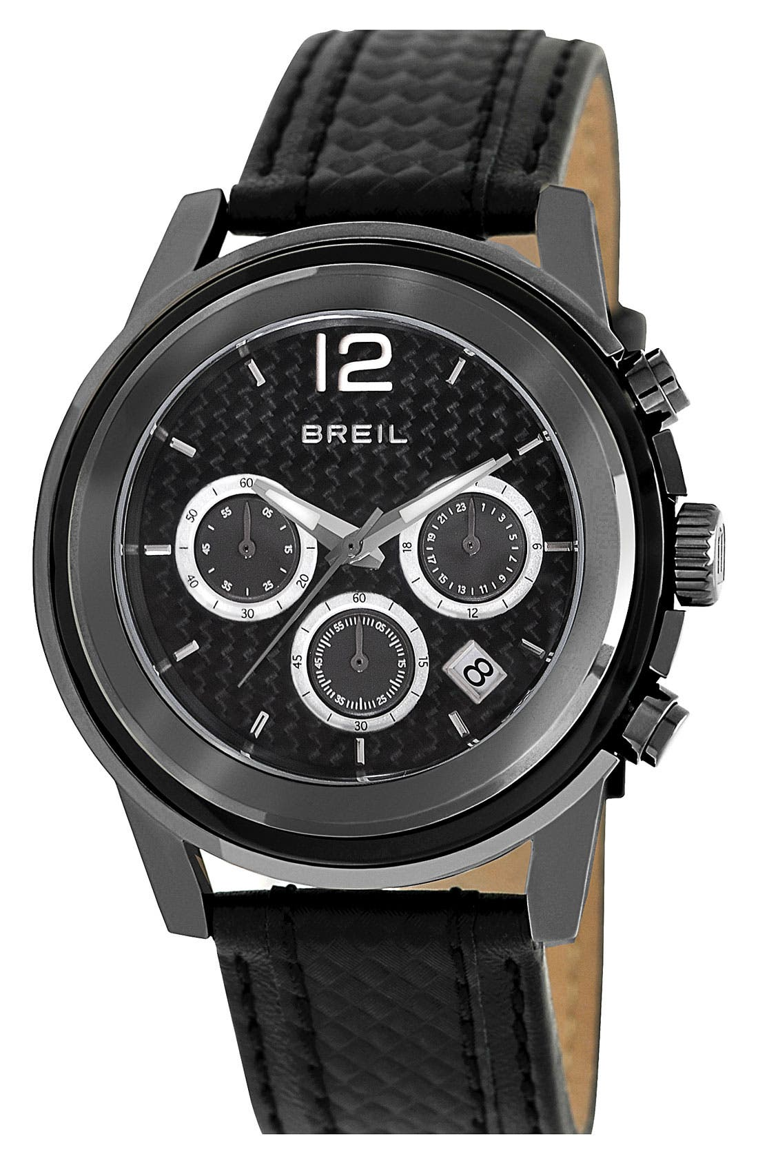 Alternate Image 1 Selected - Breil 'Orchestra' Chronograph Textured Strap Watch, 45mm