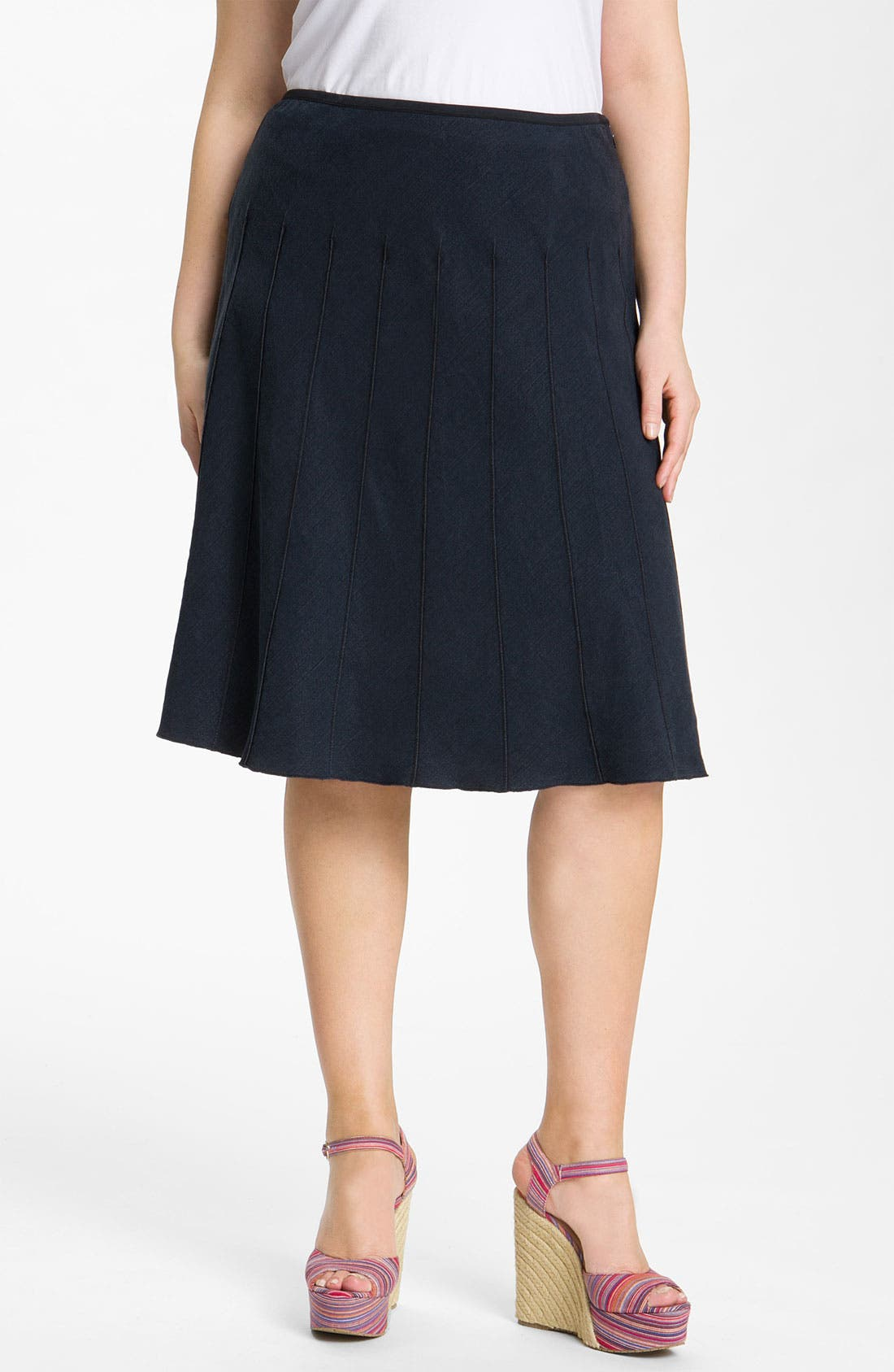 Alternate Image 1 Selected - Nic + Zoe 'Flirt' Seamed Skirt (Plus)