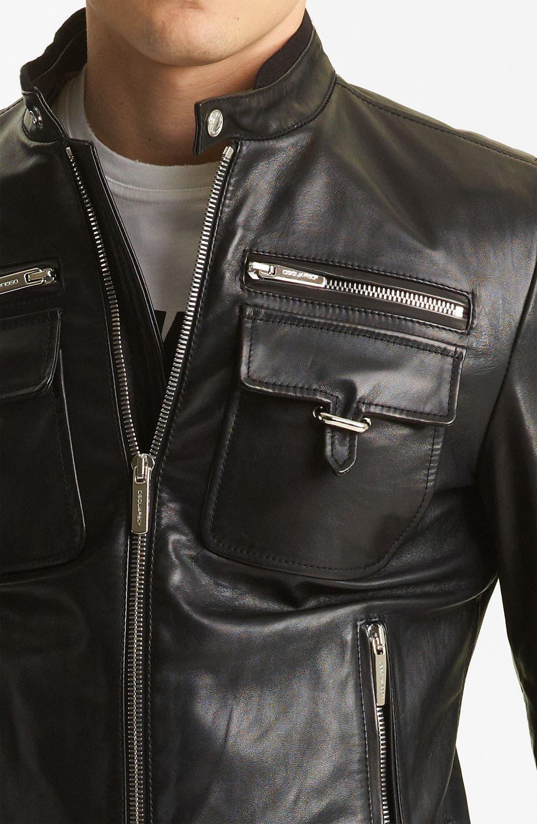 Alternate Image 3  - Dsquared2 'Chic' Leather Moto Jacket