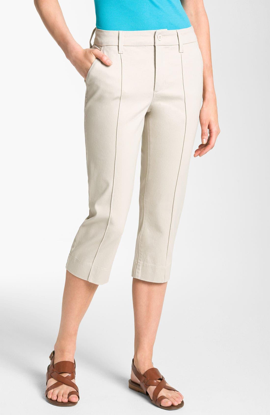 Alternate Image 1 Selected - NYDJ 'Anita' Pintuck Crop Pants